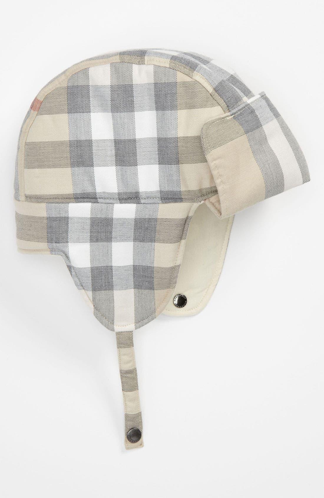 Main Image - Burberry Earflap Hat (Infant)