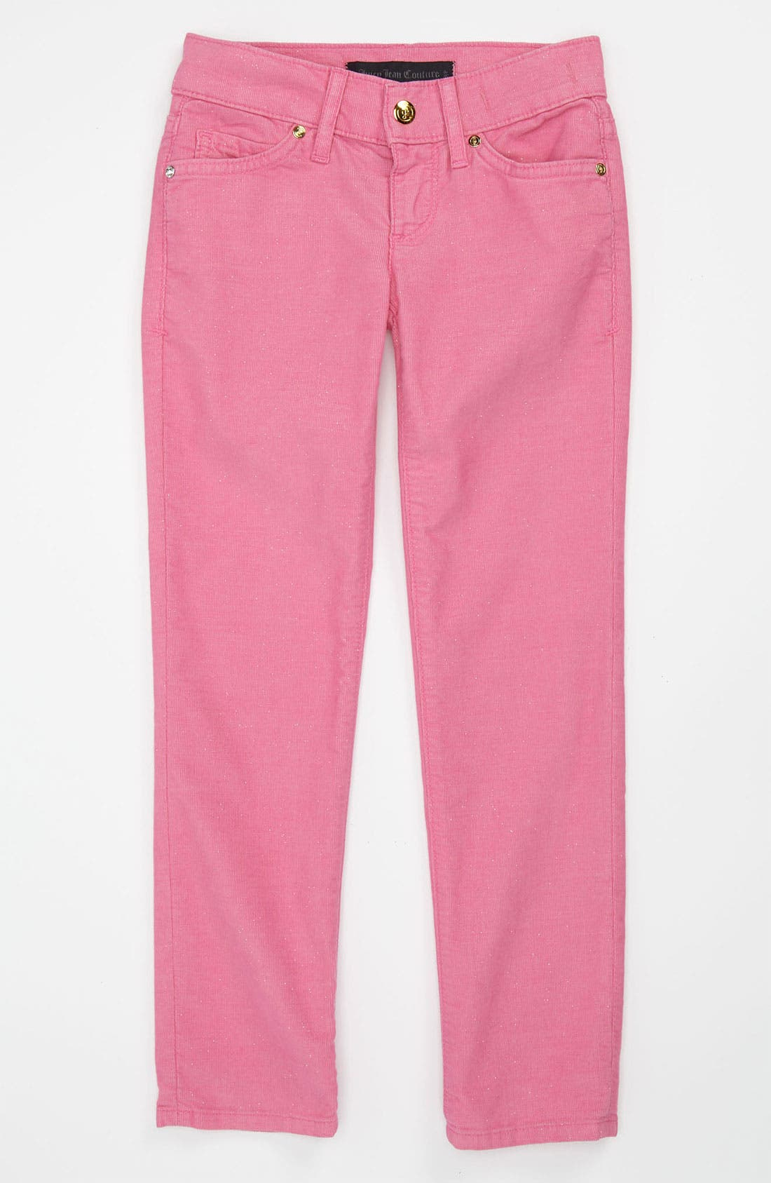 Alternate Image 1 Selected - Juicy Couture Glitter Corduroy Pants (Little Girls & Big Girls)