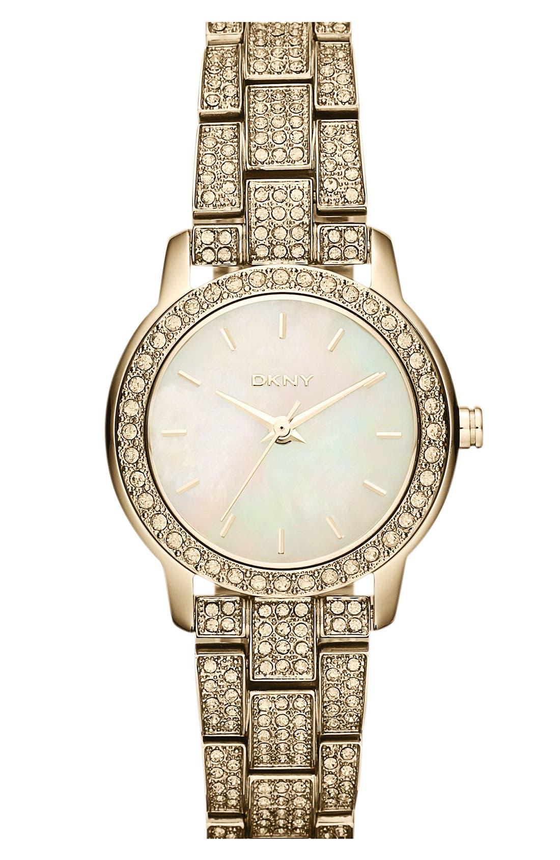 Alternate Image 1 Selected - DKNY Pavé Crystal Bracelet Watch