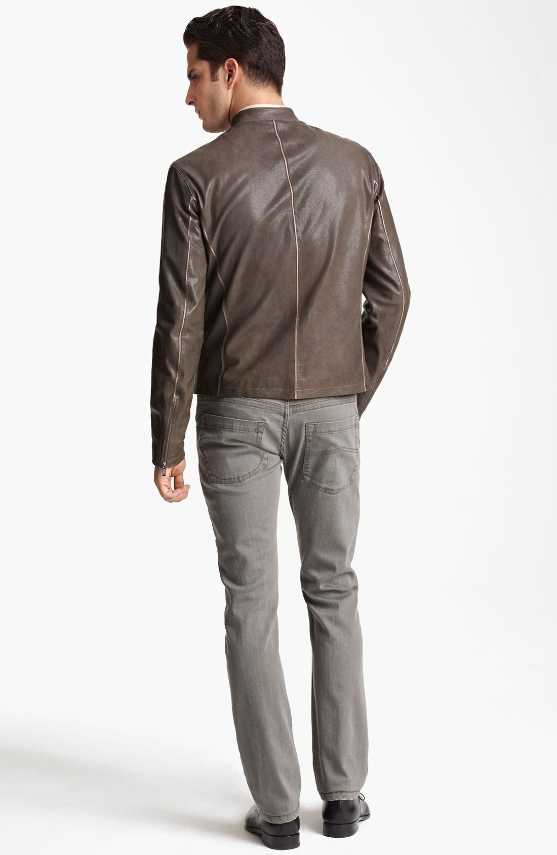 Alternate Image 5  - Armani Collezioni Leather Jacket
