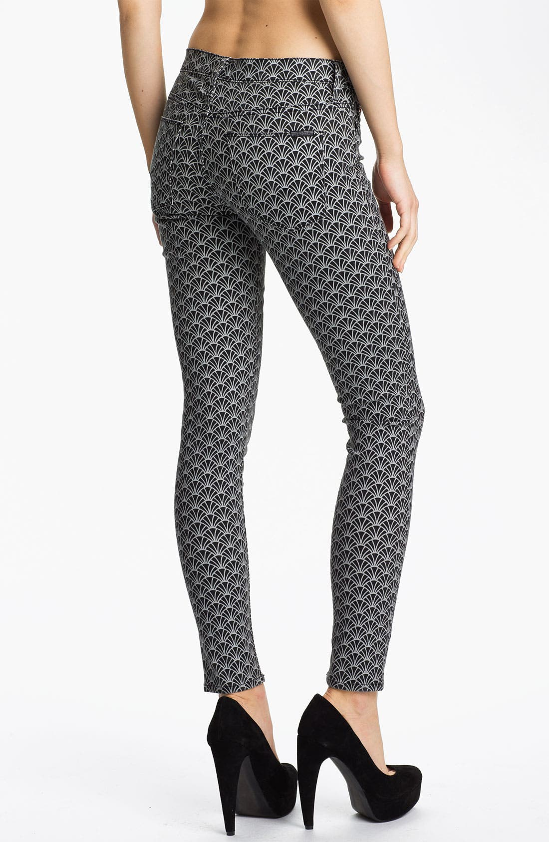 Alternate Image 2  - Hudson Jeans 'Nico' Mid Rise Skinny Stretch Jeans (Diamond Art Deco)