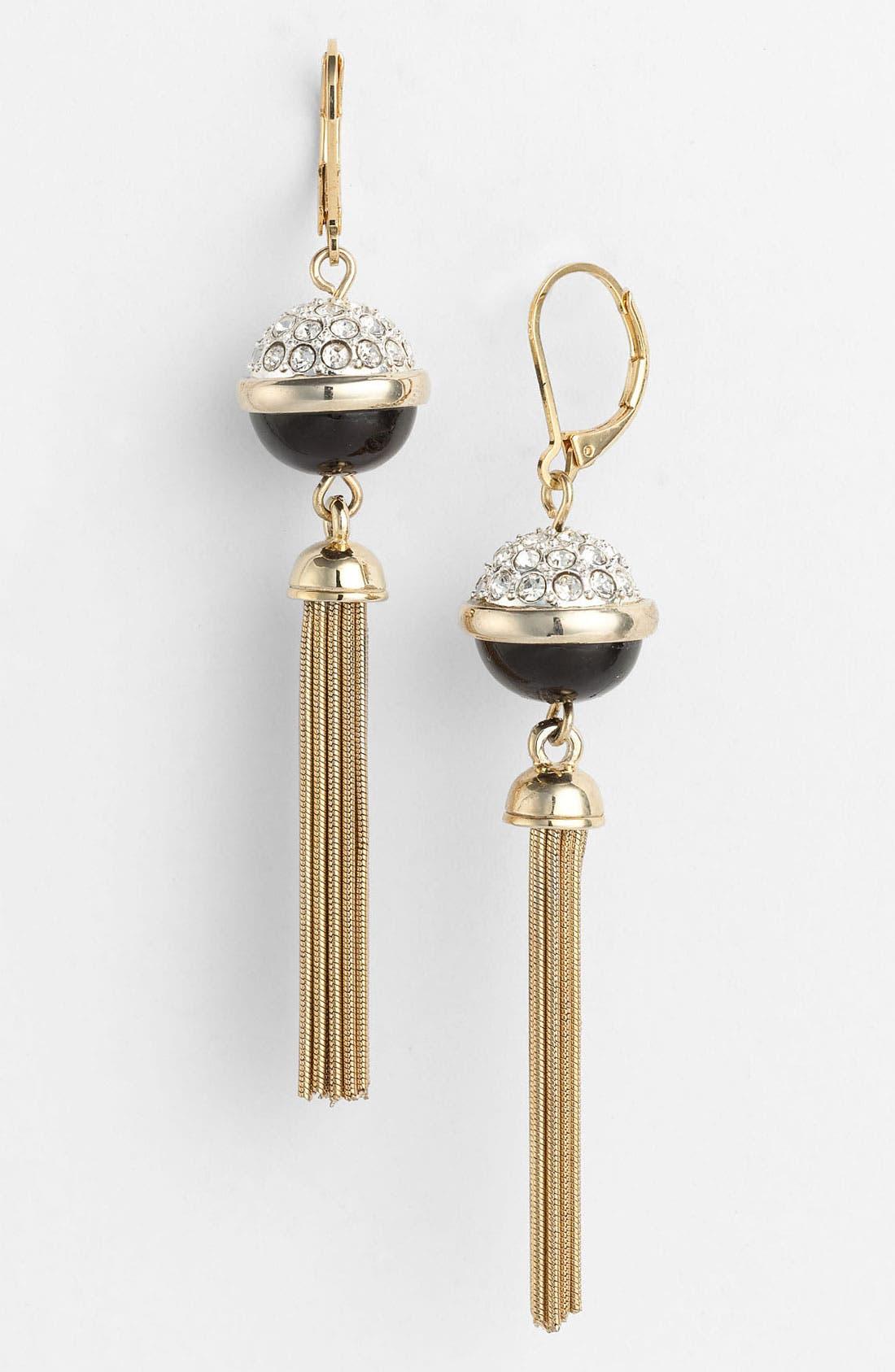 Alternate Image 1 Selected - Anne Klein Linear Earrings