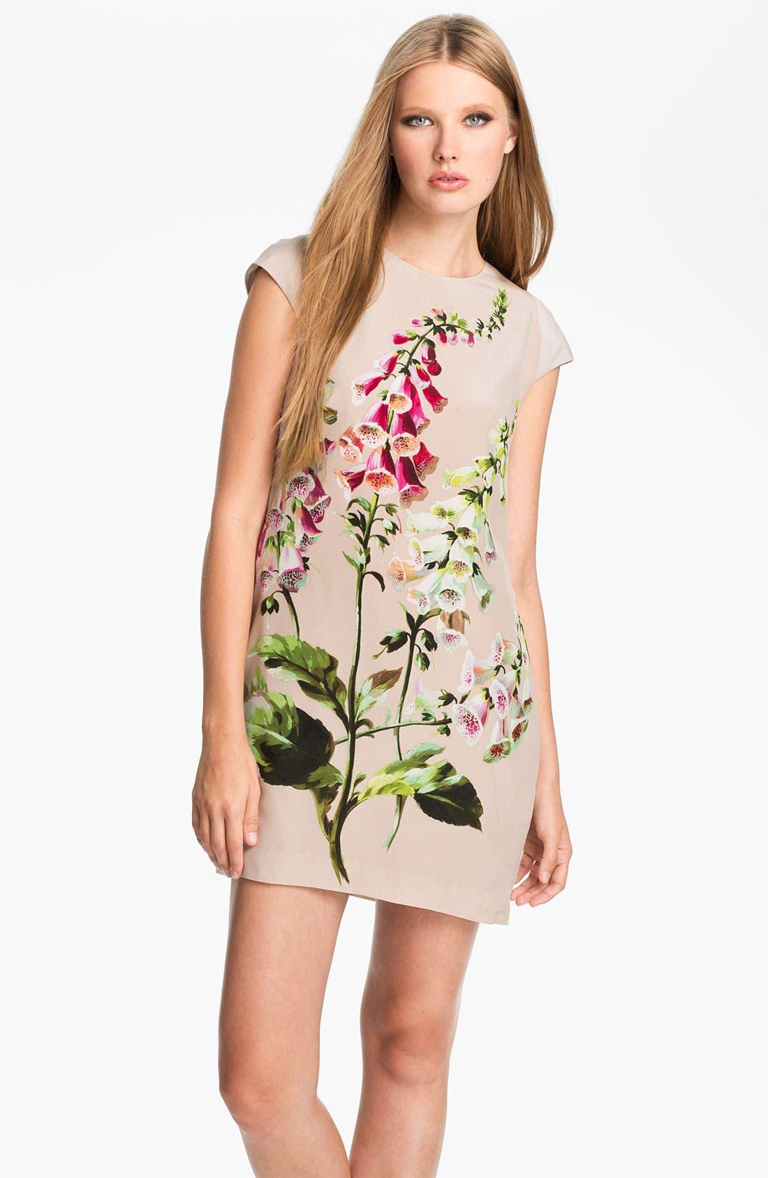 Main Image - Ted Baker London Foxglove Print Silk Dress