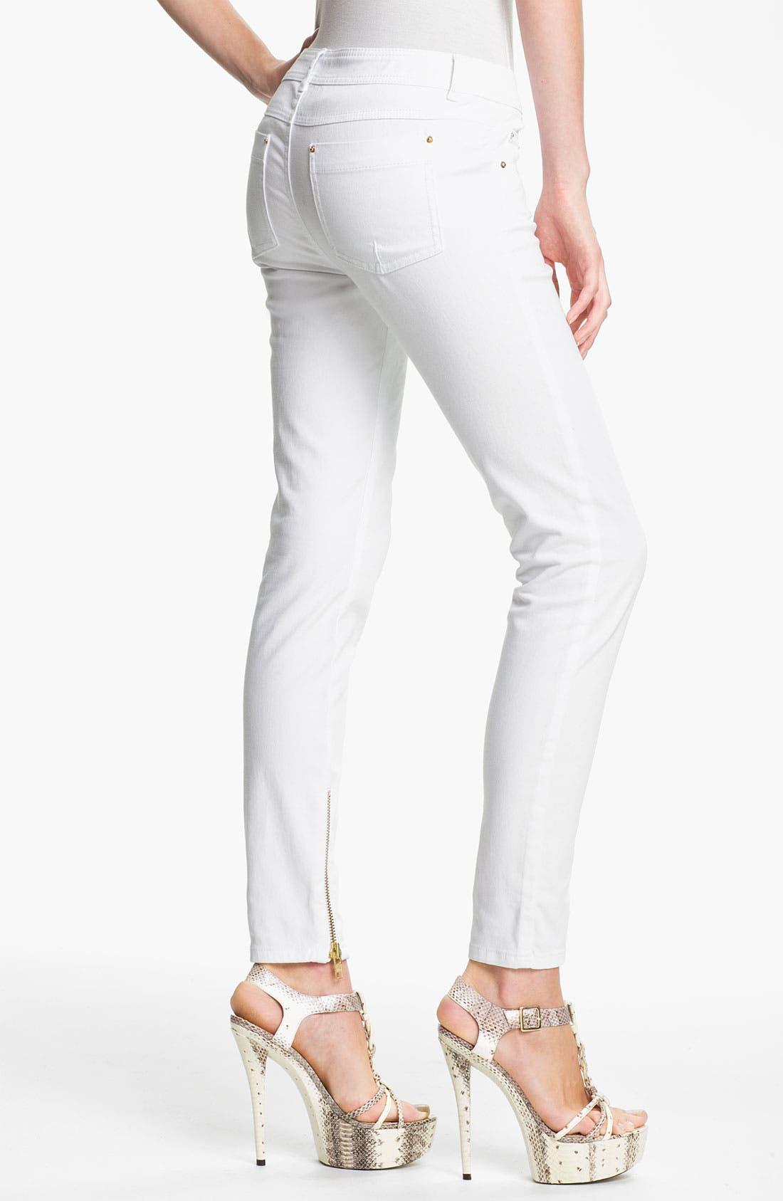 Alternate Image 2  - Rachel Zoe 'Julie' Zip Detail Skinny Stretch Jeans
