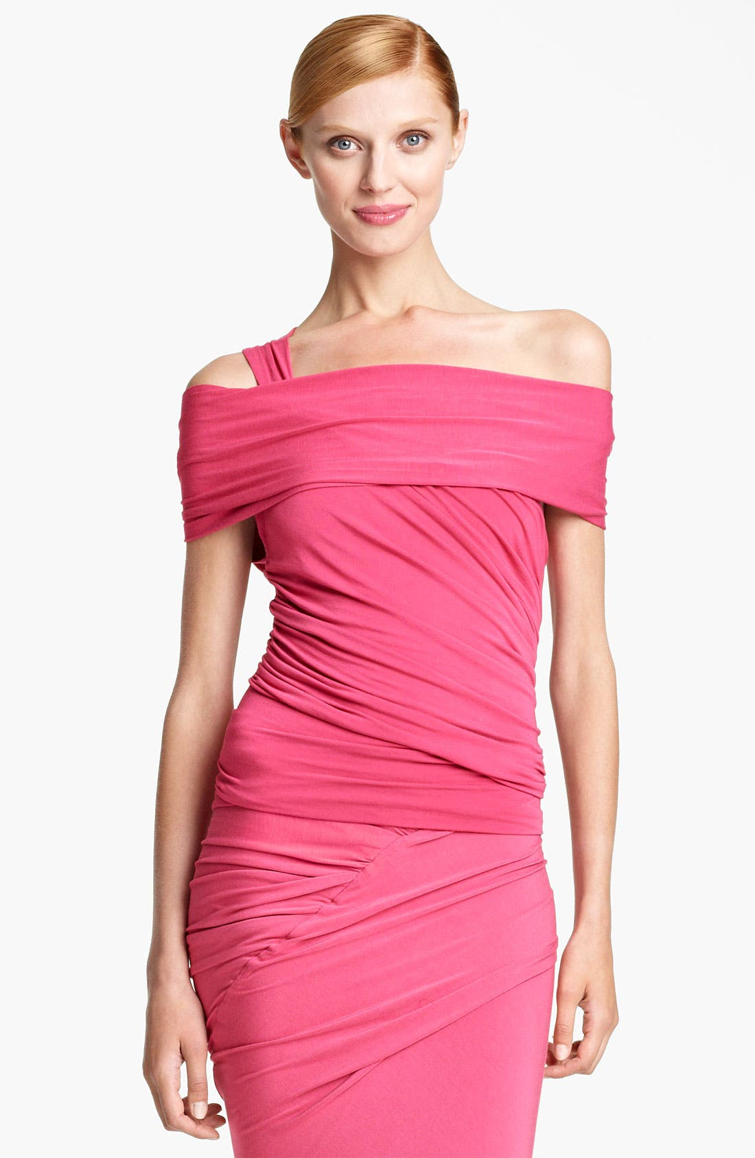 Alternate Image 2  - Donna Karan Collection Cold Shoulder Jersey Top