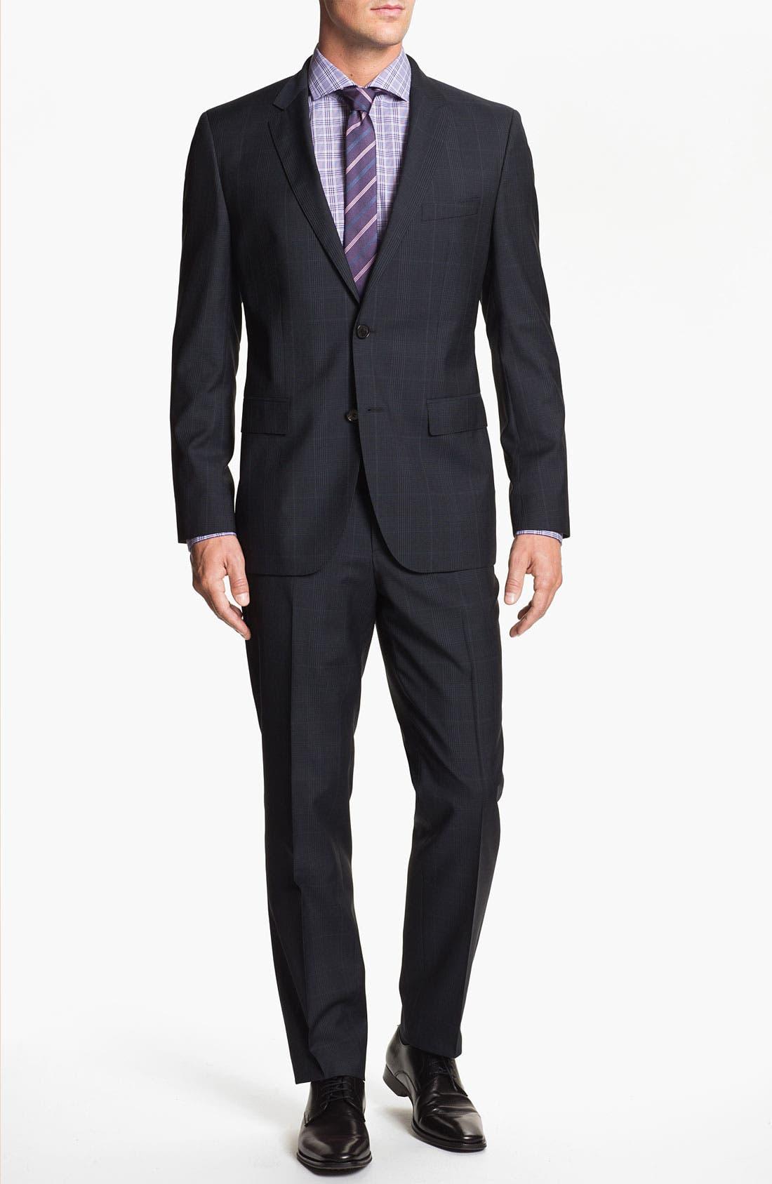 Alternate Image 2  - BOSS Black 'Jam/Sharp' Trim Fit Plaid Suit