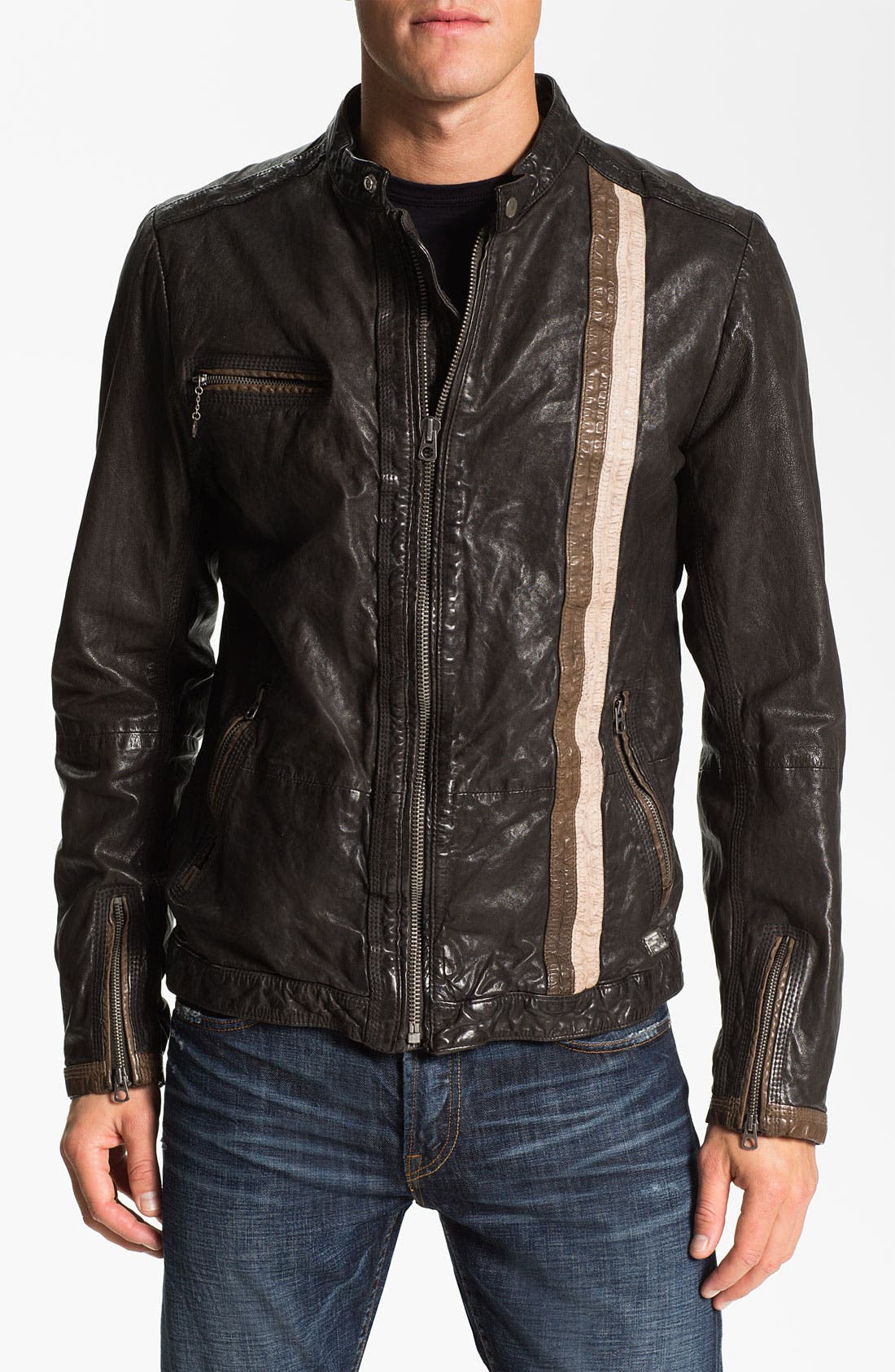 Alternate Image 1 Selected - DIESEL® 'Lomami' Leather Moto Jacket