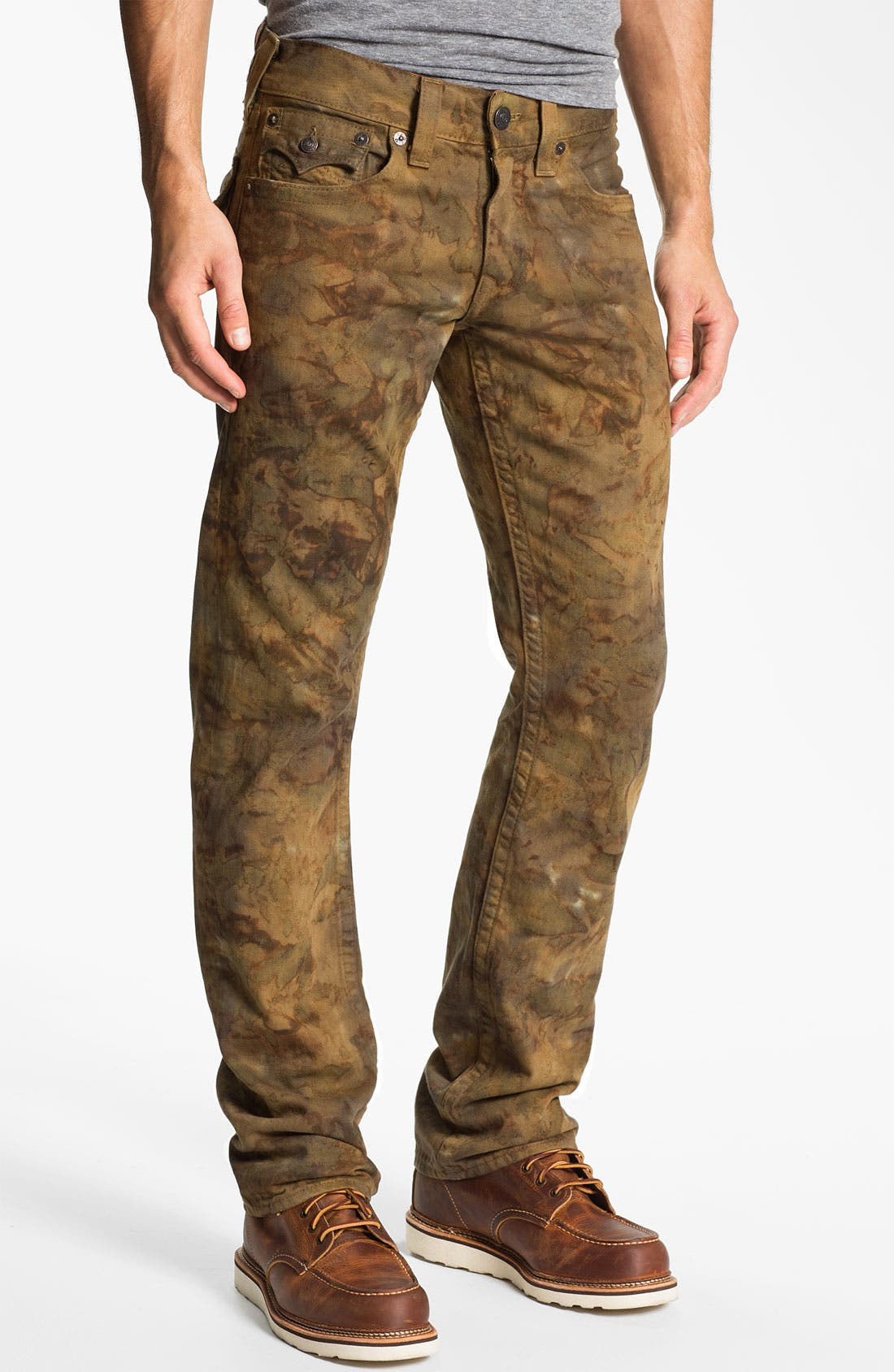 Alternate Image 2  - True Religion Brand Jeans 'Ricky' Straight Leg Jeans (Military Tie Dye)