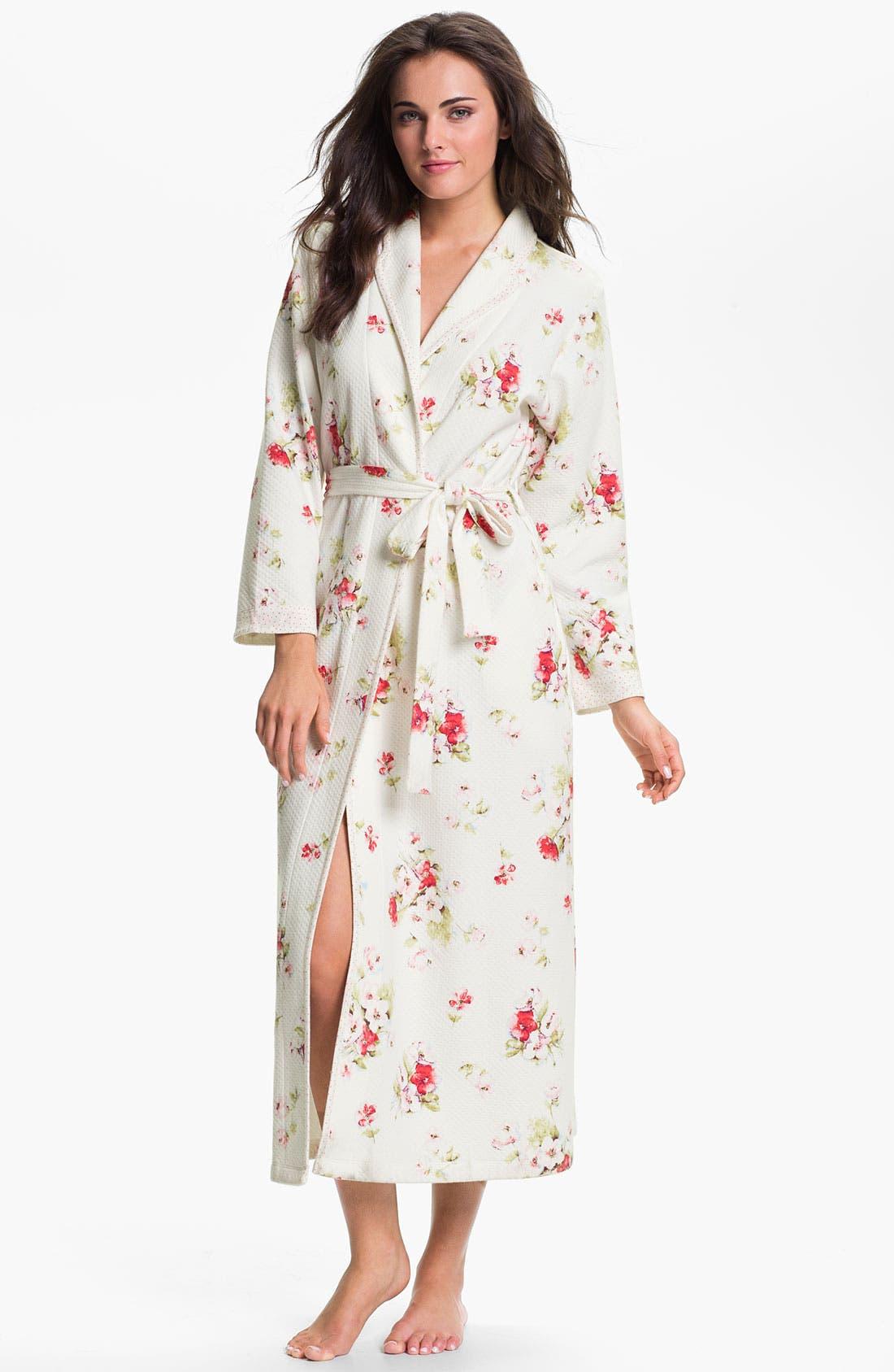 Alternate Image 1 Selected - Carole Hochman Designs 'Roseberry Amaryllis' Robe