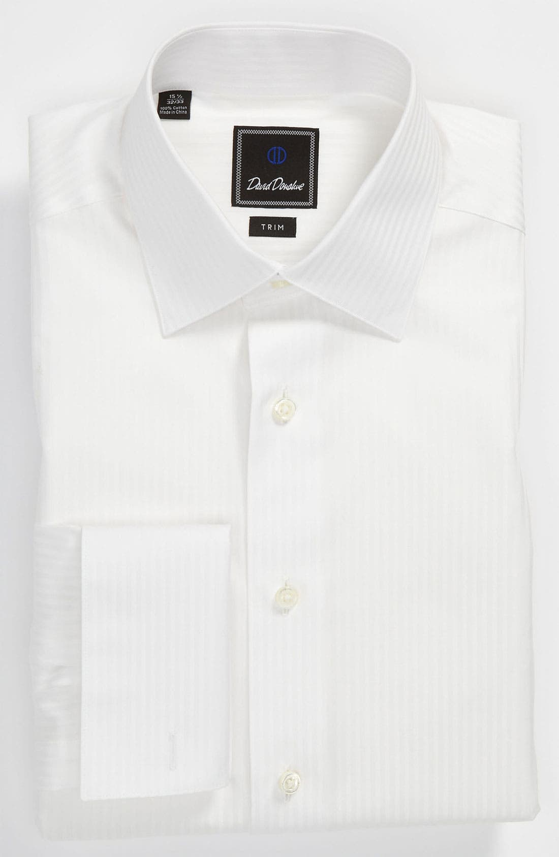 Alternate Image 1 Selected - David Donahue Trim Fit Tuxedo Shirt