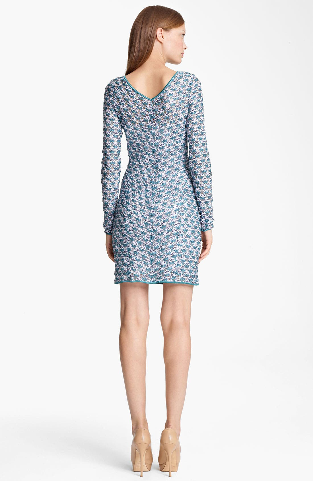 Alternate Image 2  - Missoni Long Sleeve Flame Stitch Dress