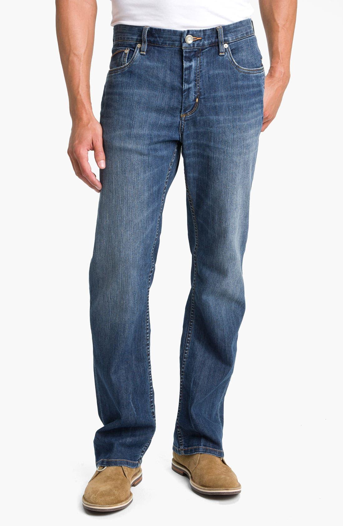 Alternate Image 1 Selected - Tommy Bahama Denim 'Kingsly' Standard Fit Straight Leg Jeans (Medium Coastal)