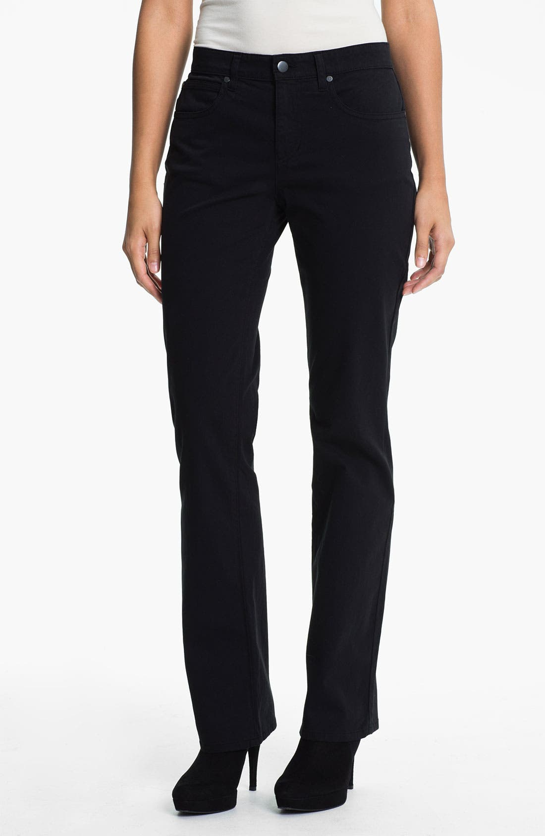 Alternate Image 1 Selected - Eileen Fisher Straight Leg Stretch Jeans