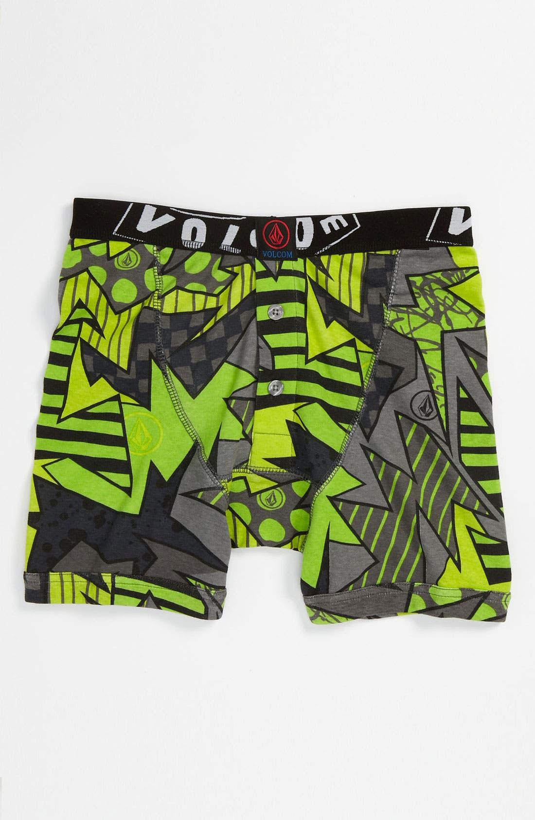 Main Image - Volcom 'Magizzle' Knit Boxer Briefs (Big Boys)