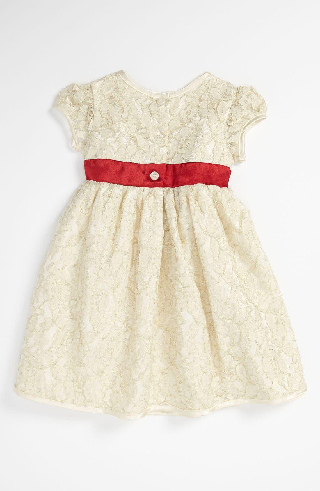 Alternate Image 2  - Sweet Heart Rose Lace Dress (Toddler)
