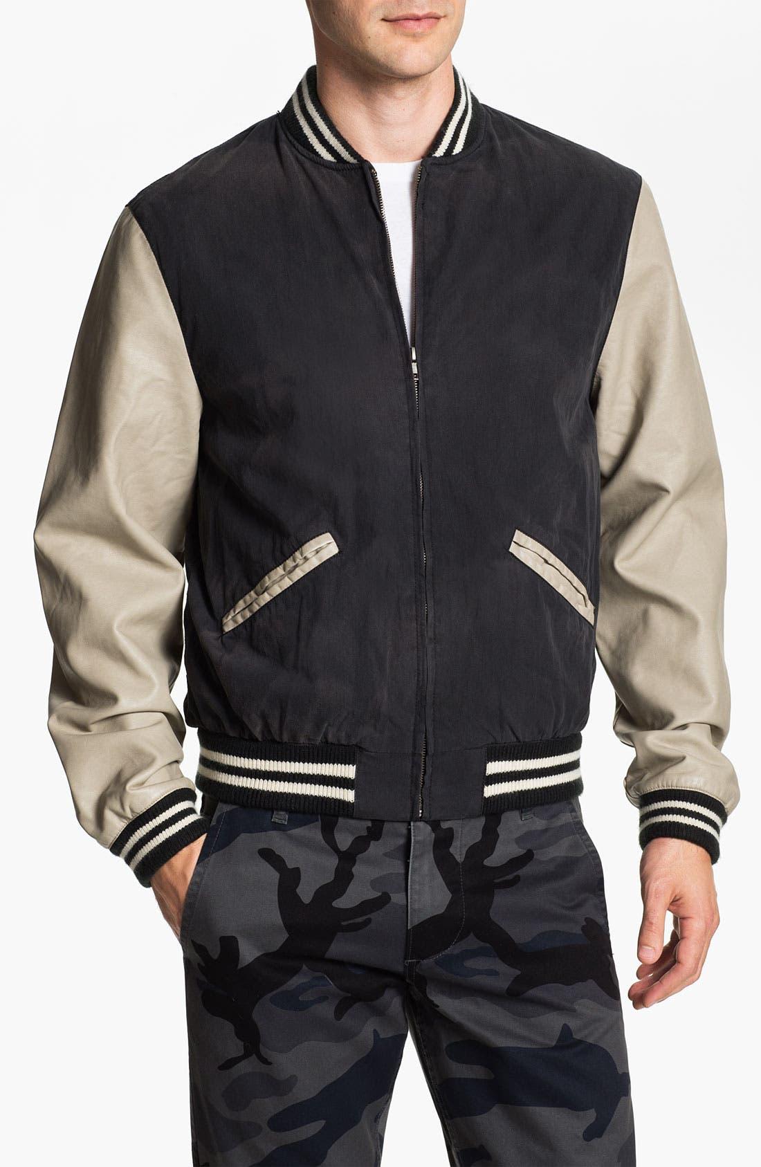 Alternate Image 1 Selected - Just A Cheap Shirt 'Varsity' Jacket