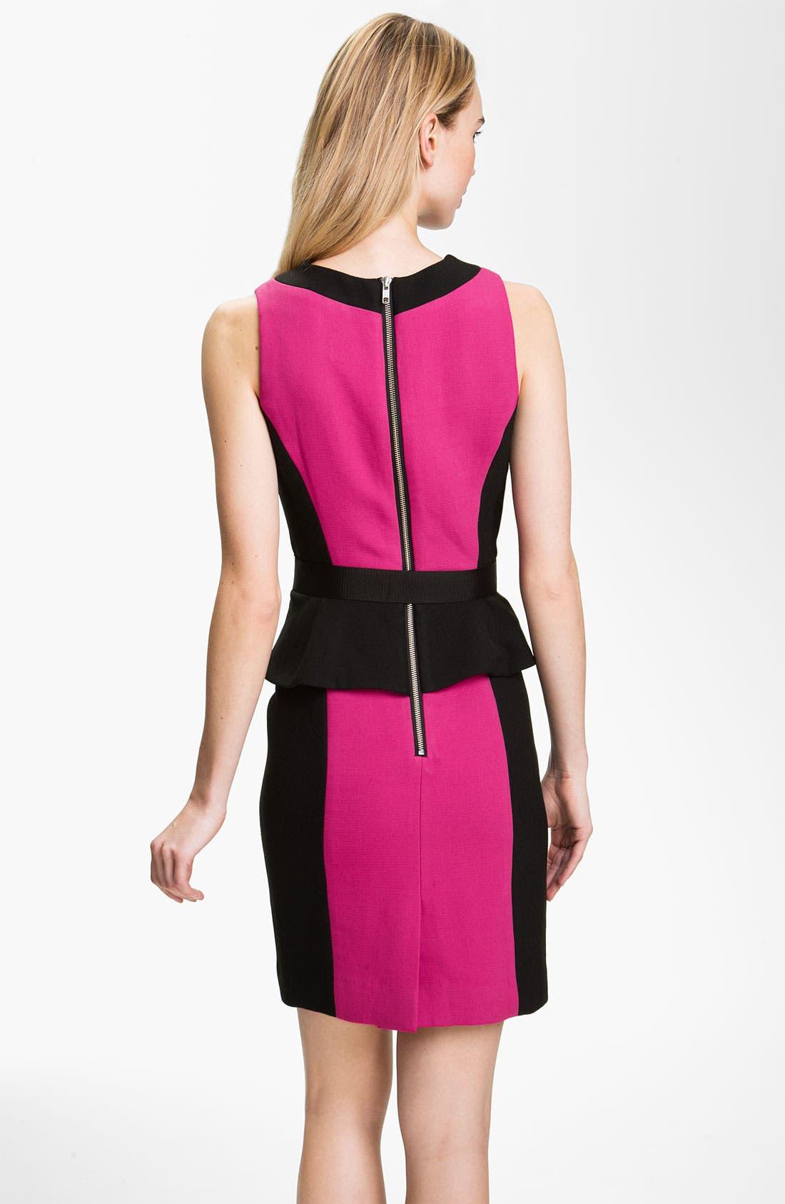 Alternate Image 2  - Milly 'Olivia' Belted Sheath Dress