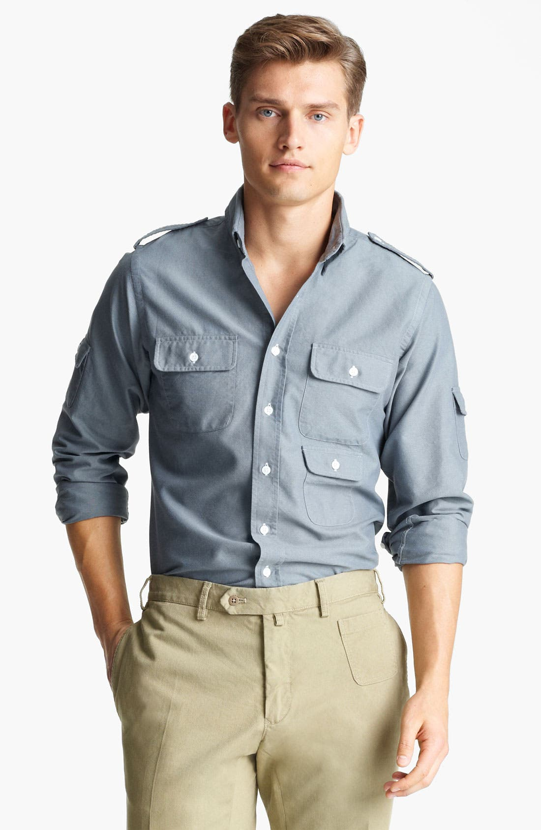Main Image - Gant by Michael Bastian Multi Pocket Woven Shirt