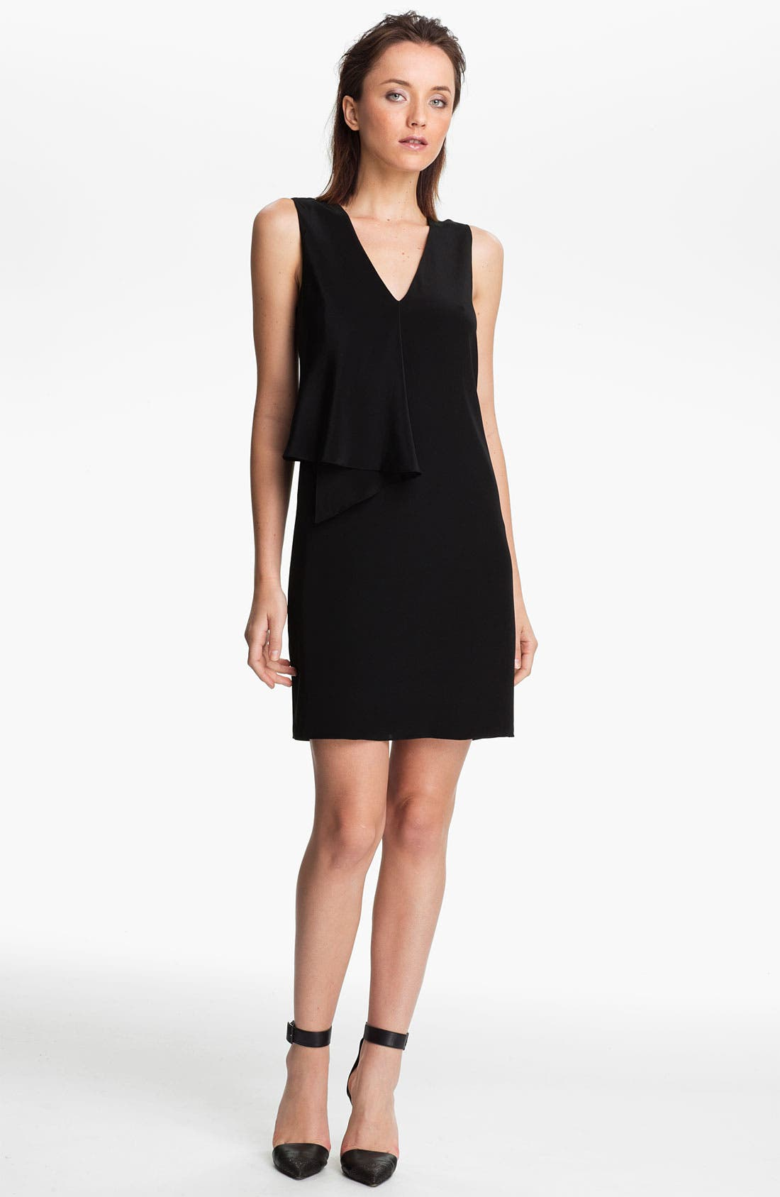 Alternate Image 1 Selected - Tibi Draped Front Silk Dress