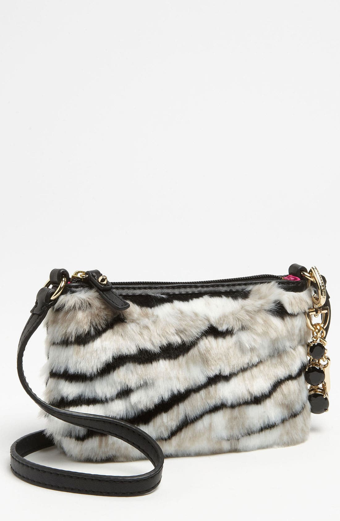 Main Image - Juicy Couture 'Louisa' Faux Fur Crossbody Bag (Girls)