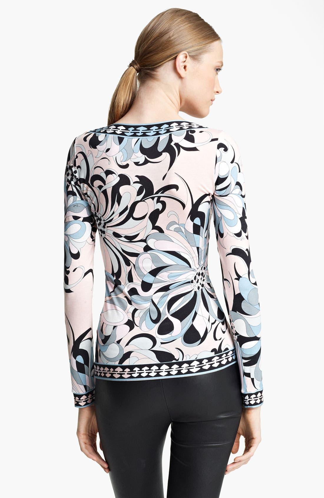 Alternate Image 2  - Emilio Pucci Floral Print Jersey Top