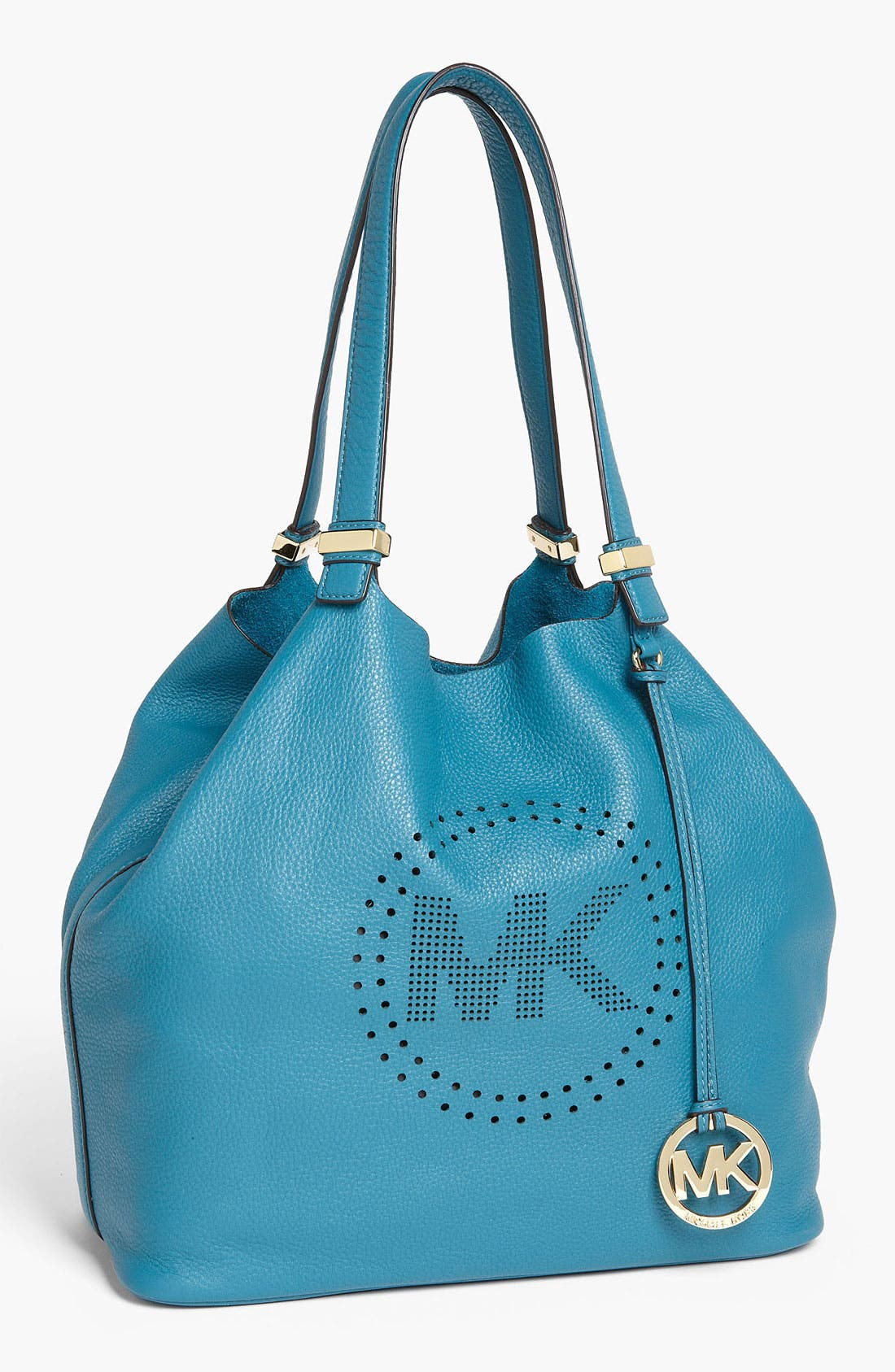 Main Image - MICHAEL Michael Kors 'Perforated MK - Large' Leather Tote
