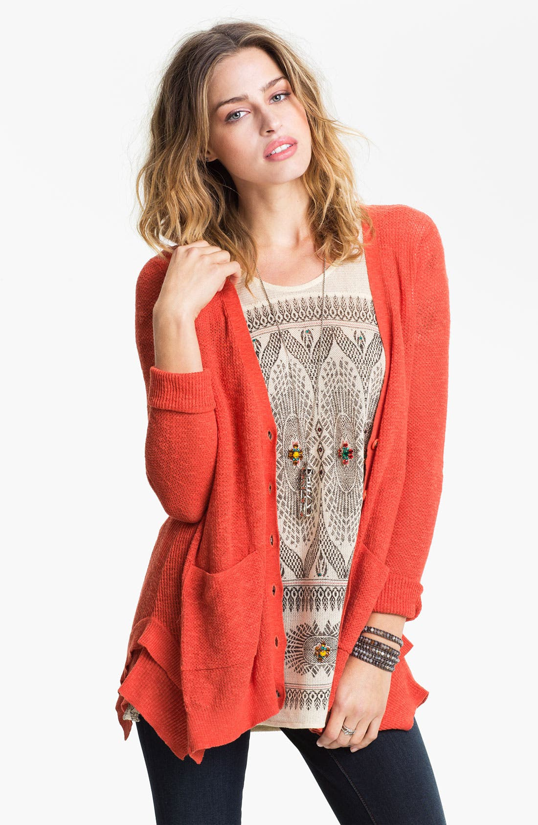 Alternate Image 1 Selected - Free People 'Smarty' Thermal Cardigan
