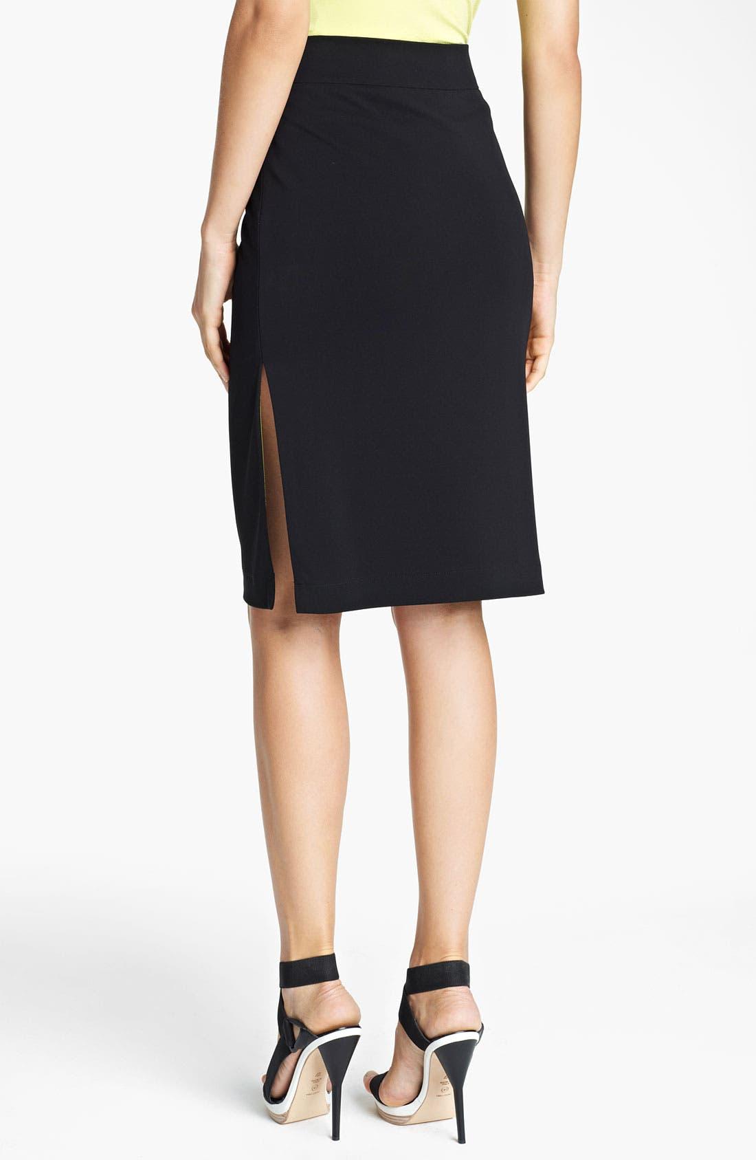 Alternate Image 2  - Lida Baday Slit Jersey Skirt
