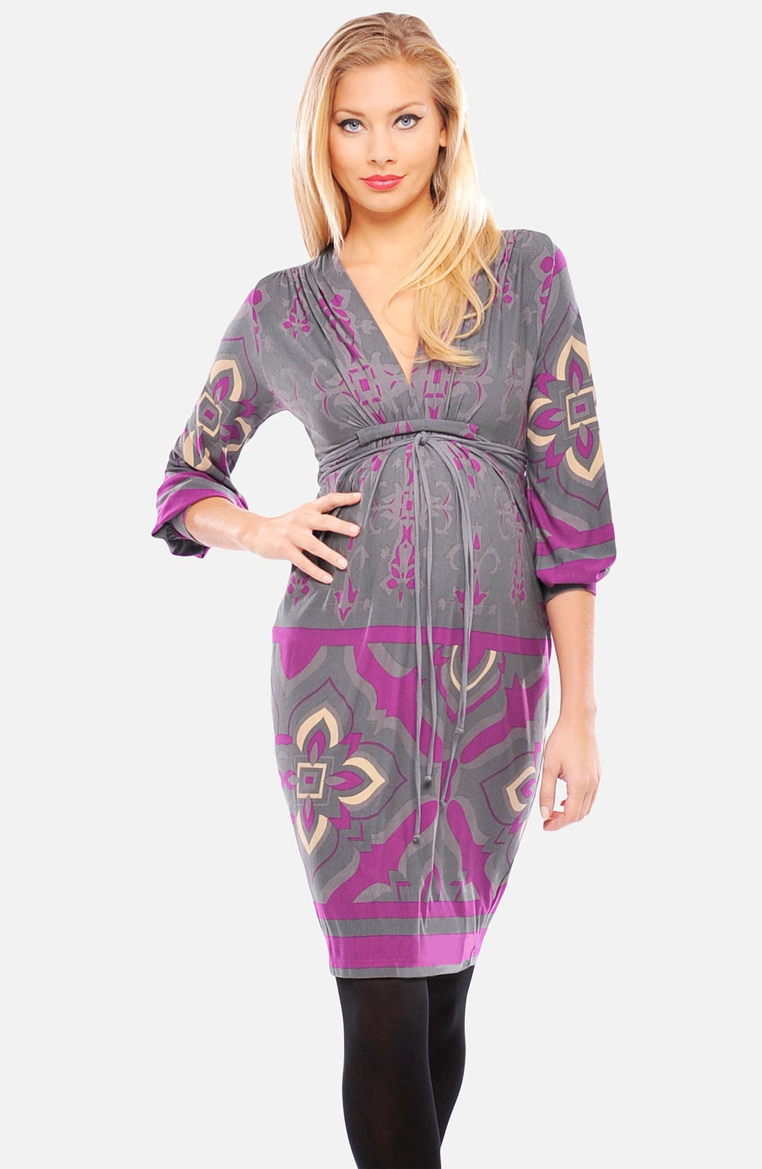 Alternate Image 1 Selected - Olian Print Maternity Dress