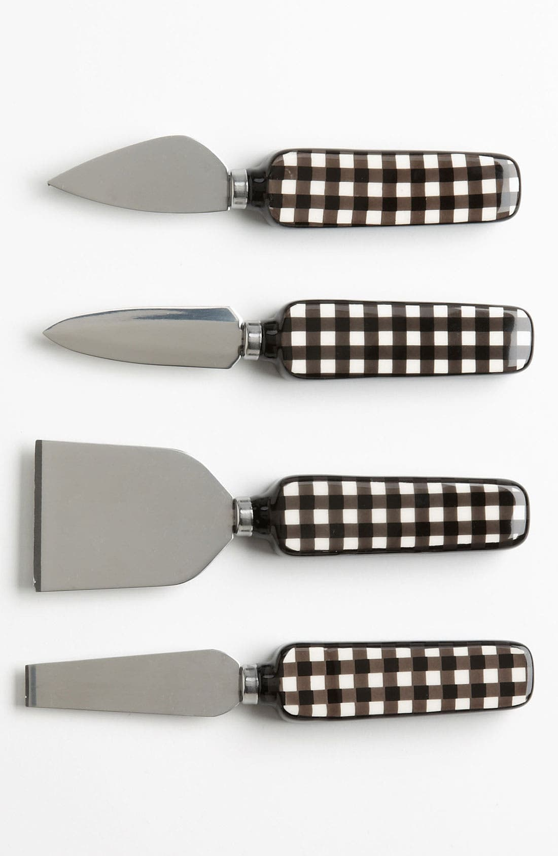 Main Image - Magenta 'Café Toile' Ceramic Cheese Knives (Set of 4)
