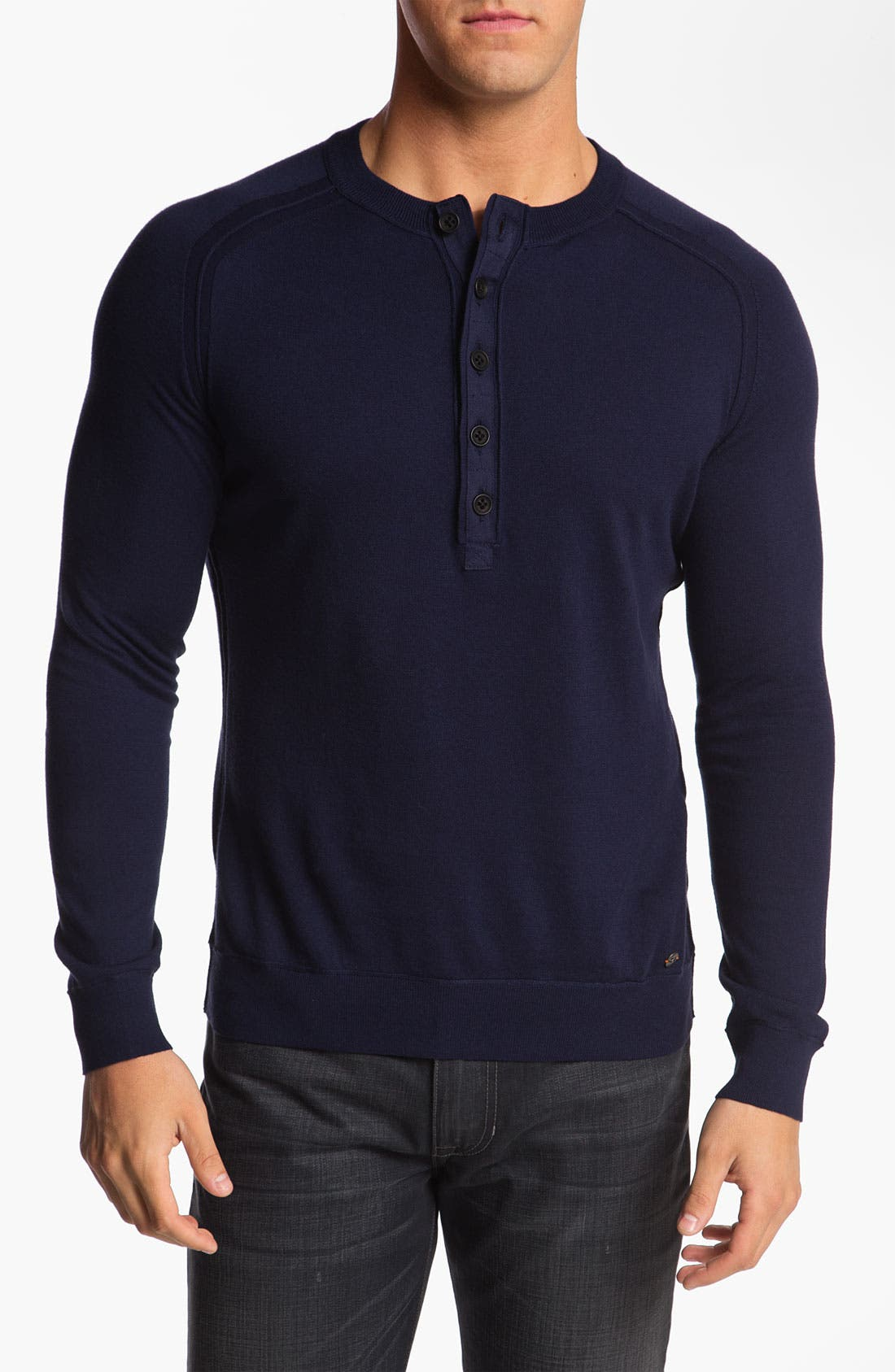 Alternate Image 1 Selected - BOSS Orange Trim Fit Knit Henley