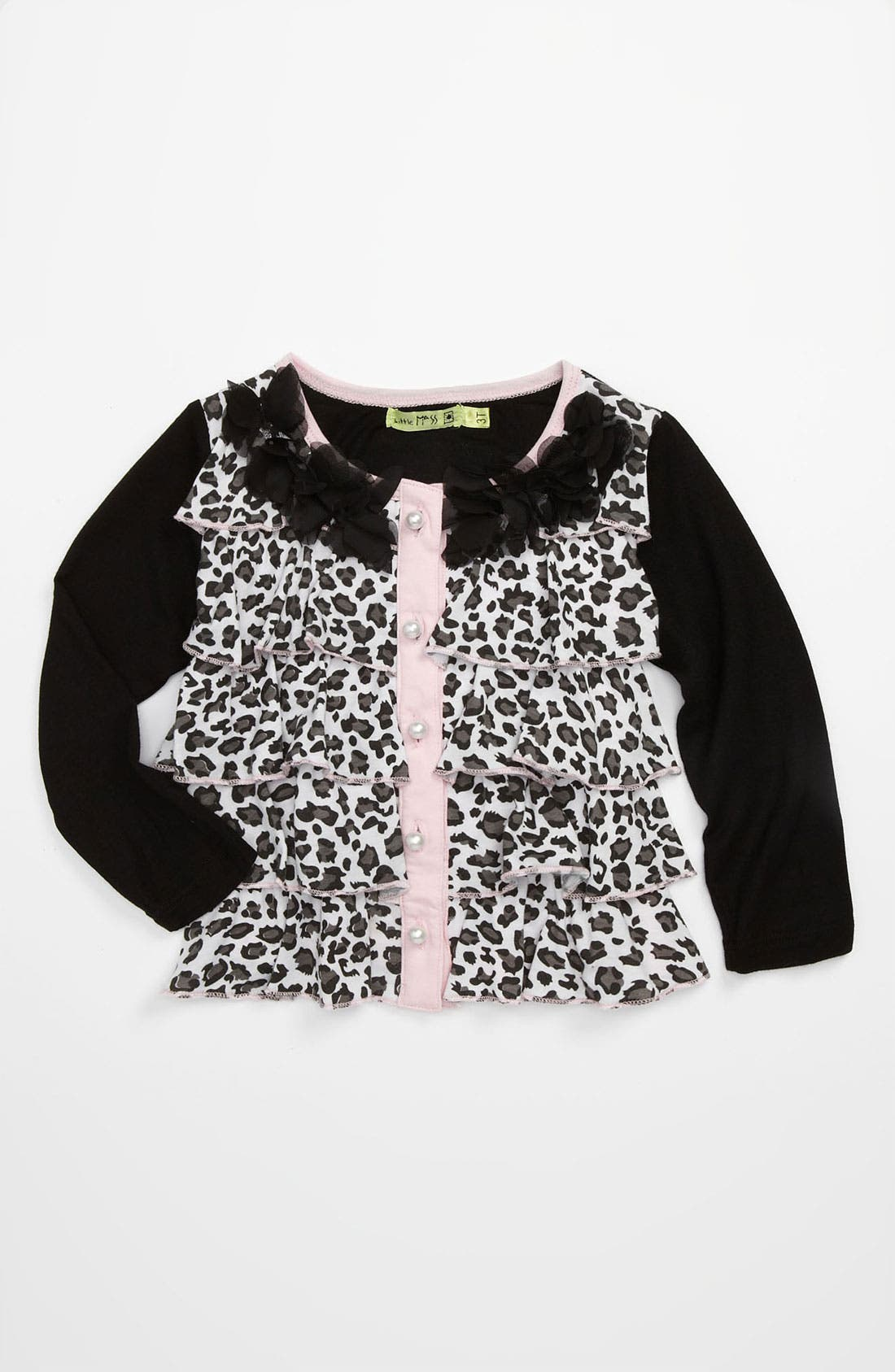 Main Image - Little Mass 'Le Petit' Tiered Cardigan (Toddler)