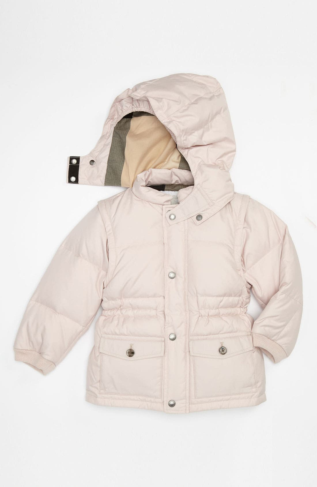 Main Image - Burberry Convertible Puffer Jacket (Toddler)