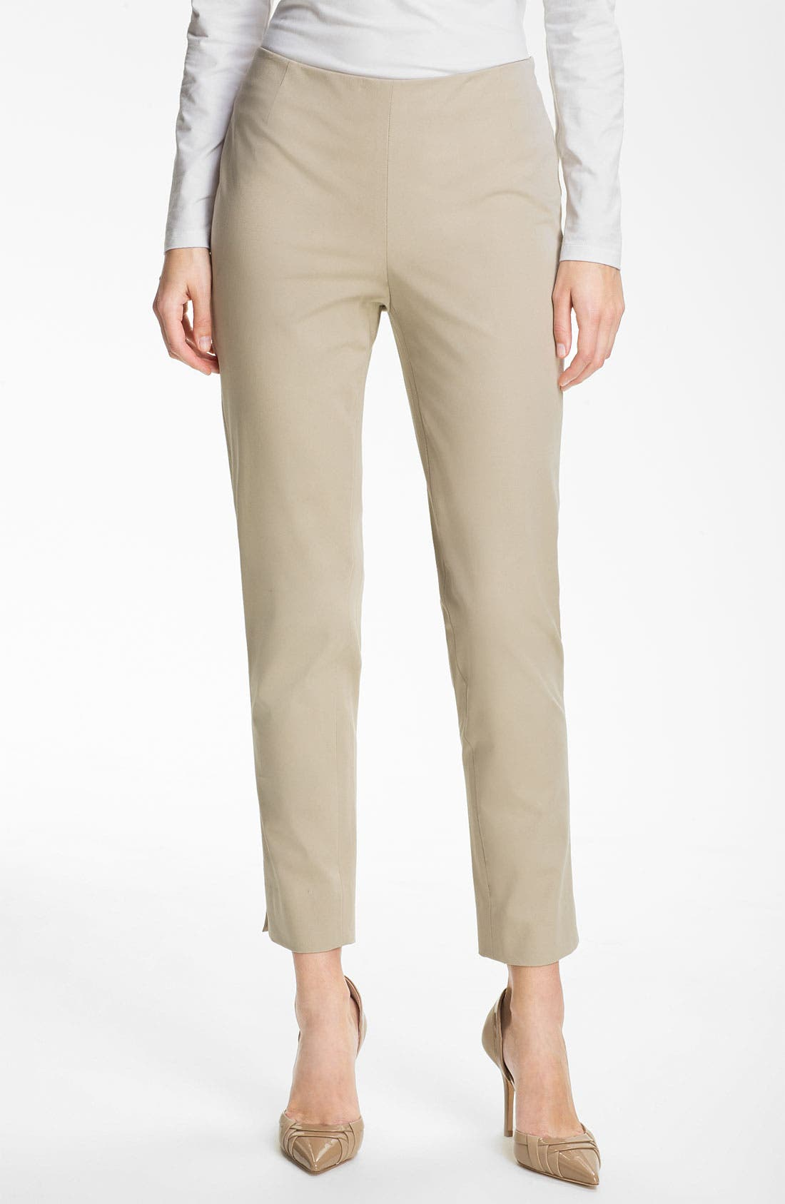 Main Image - Lafayette 148 New York 'Bleecker' Polished Twill Pants