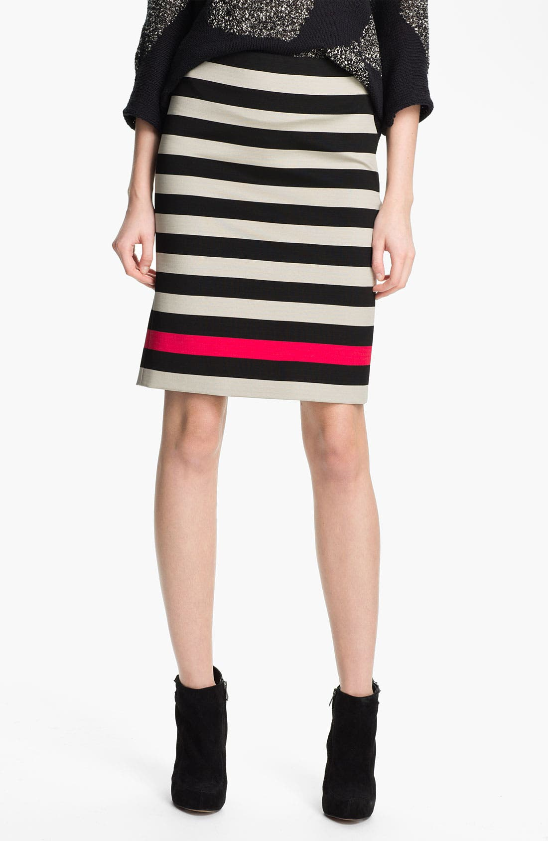 Alternate Image 1 Selected - Diane von Furstenberg 'New Koto' Stripe Skirt