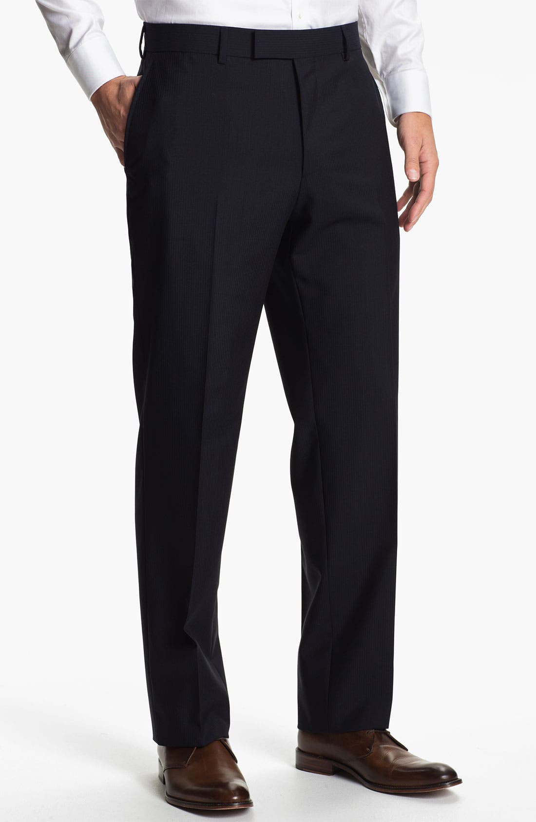 Main Image - BOSS Black 'James Brown' Stripe Wool Trousers