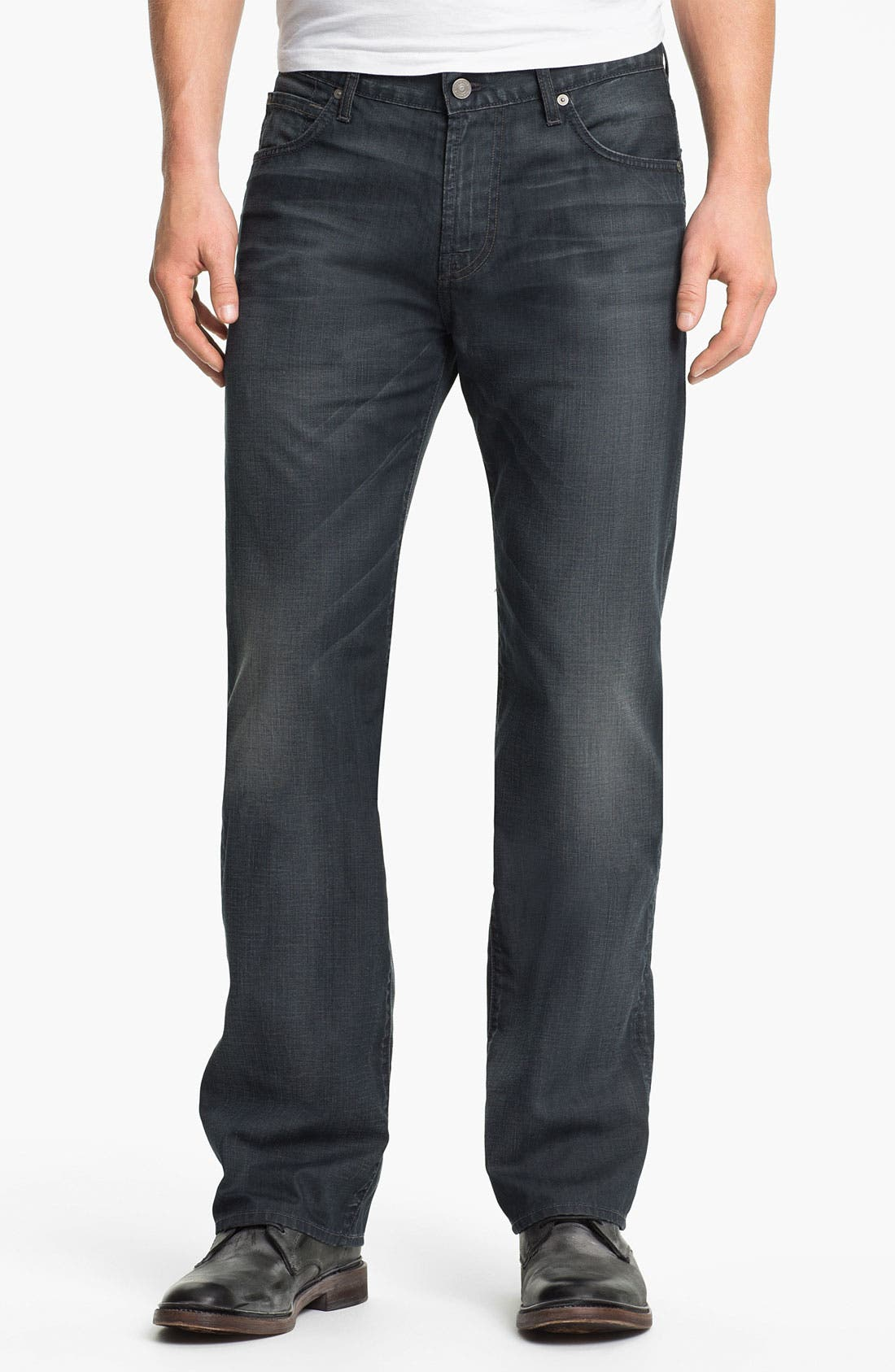 Main Image - 7 For All Mankind® 'Austyn' Straight Leg Jeans (New Grey Shade)
