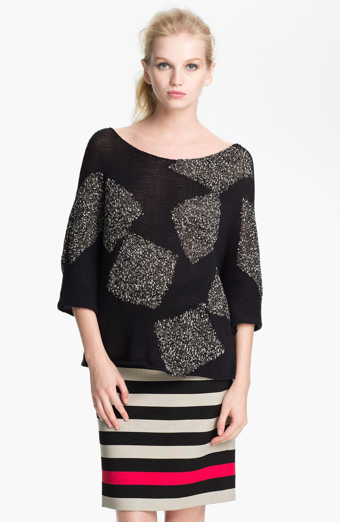 Alternate Image 1 Selected - Diane von Furstenberg 'Zita' Intarsia Sweater
