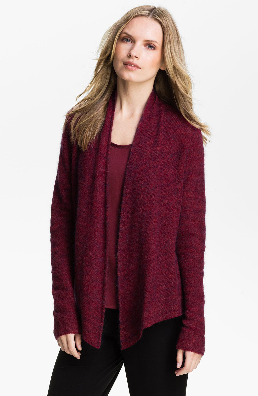 Alternate Image 1 Selected - Eileen Fisher Drape Front Cardigan