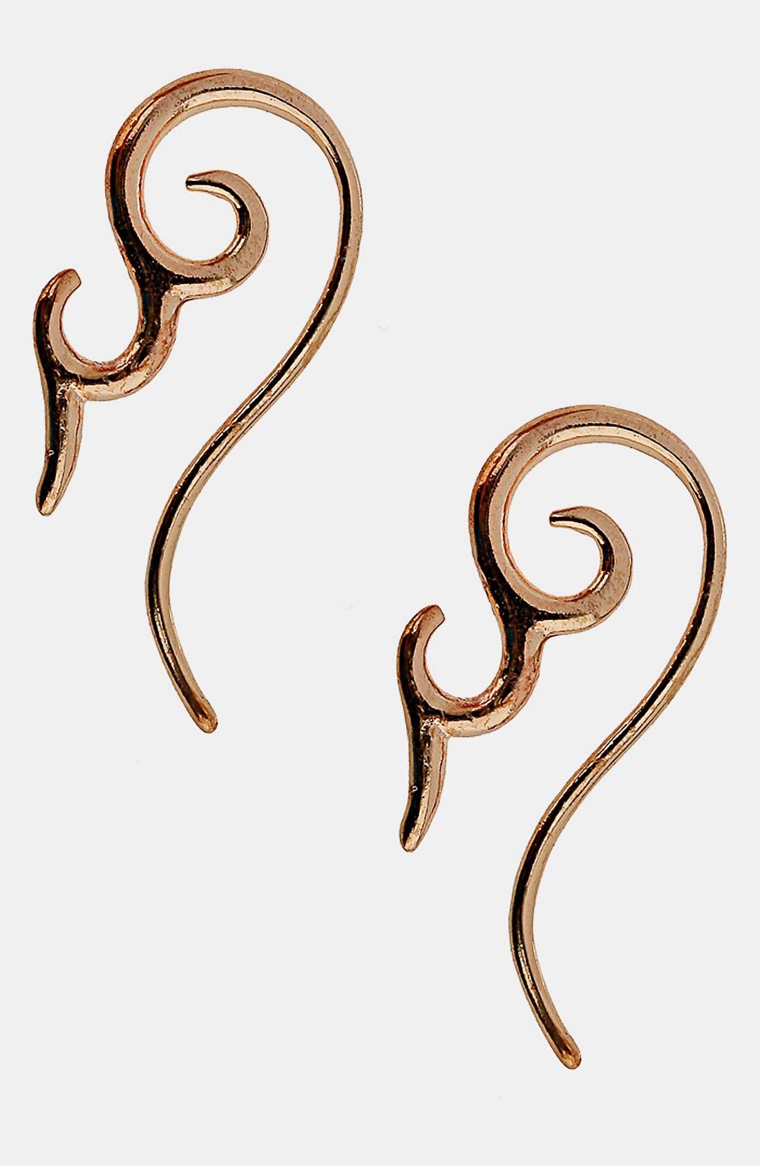 Alternate Image 1 Selected - Topshop 'Mini Swirl' Tunnel Earrings