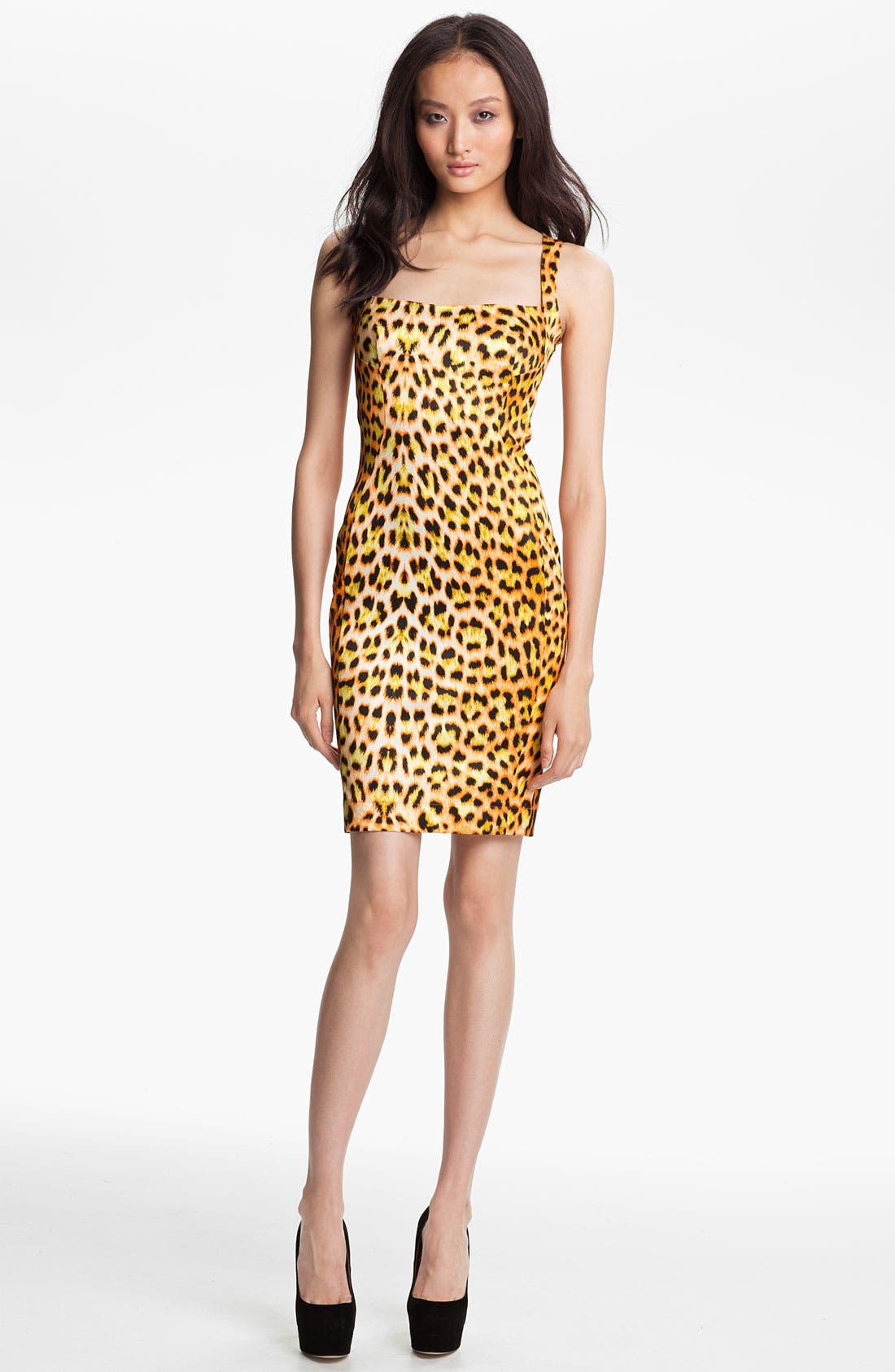 Alternate Image 1 Selected - Just Cavalli Leopard Print Tank Dress