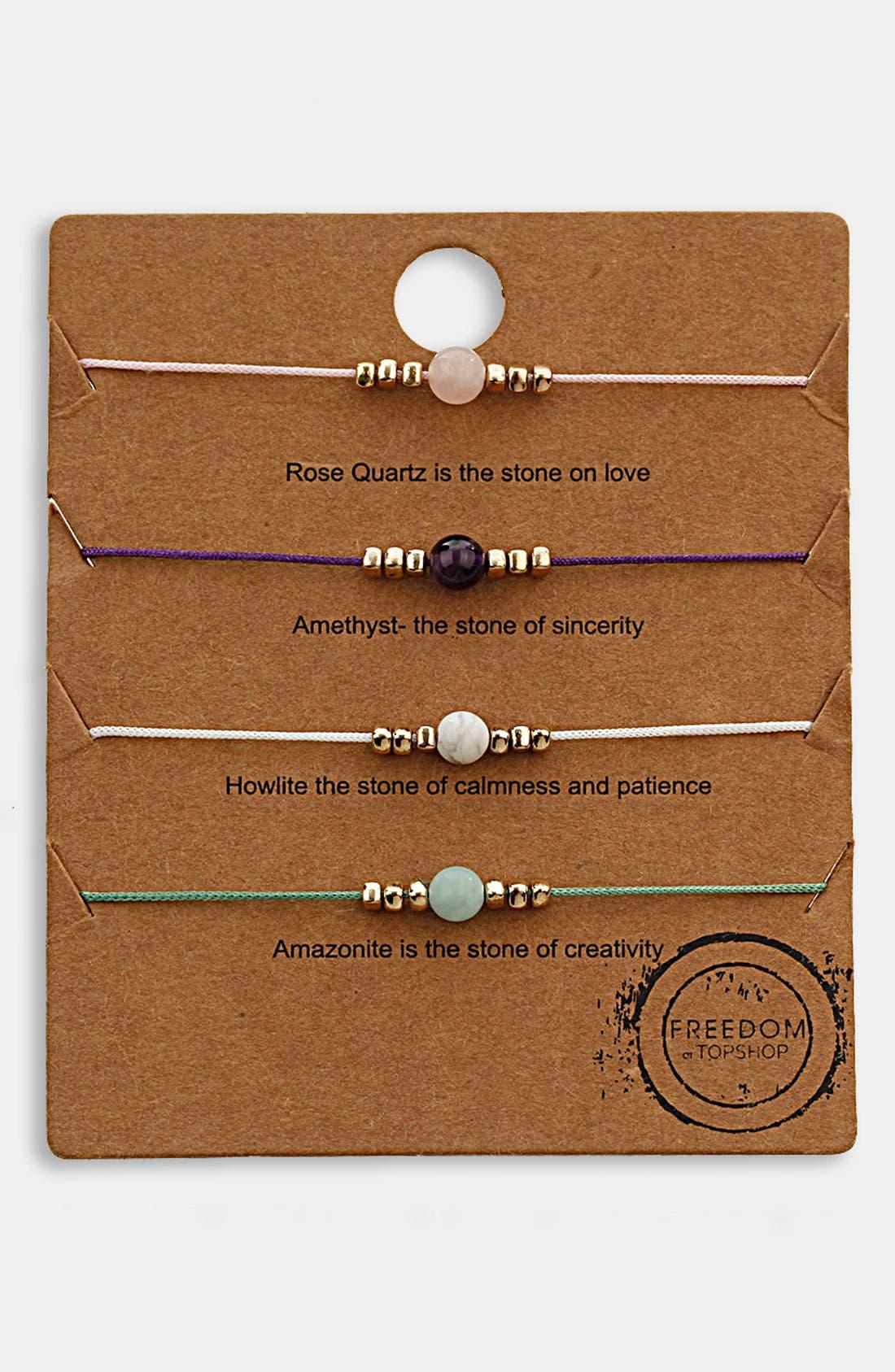 Alternate Image 1 Selected - Topshop 'Message' Friendship Bracelets (Set of 4)