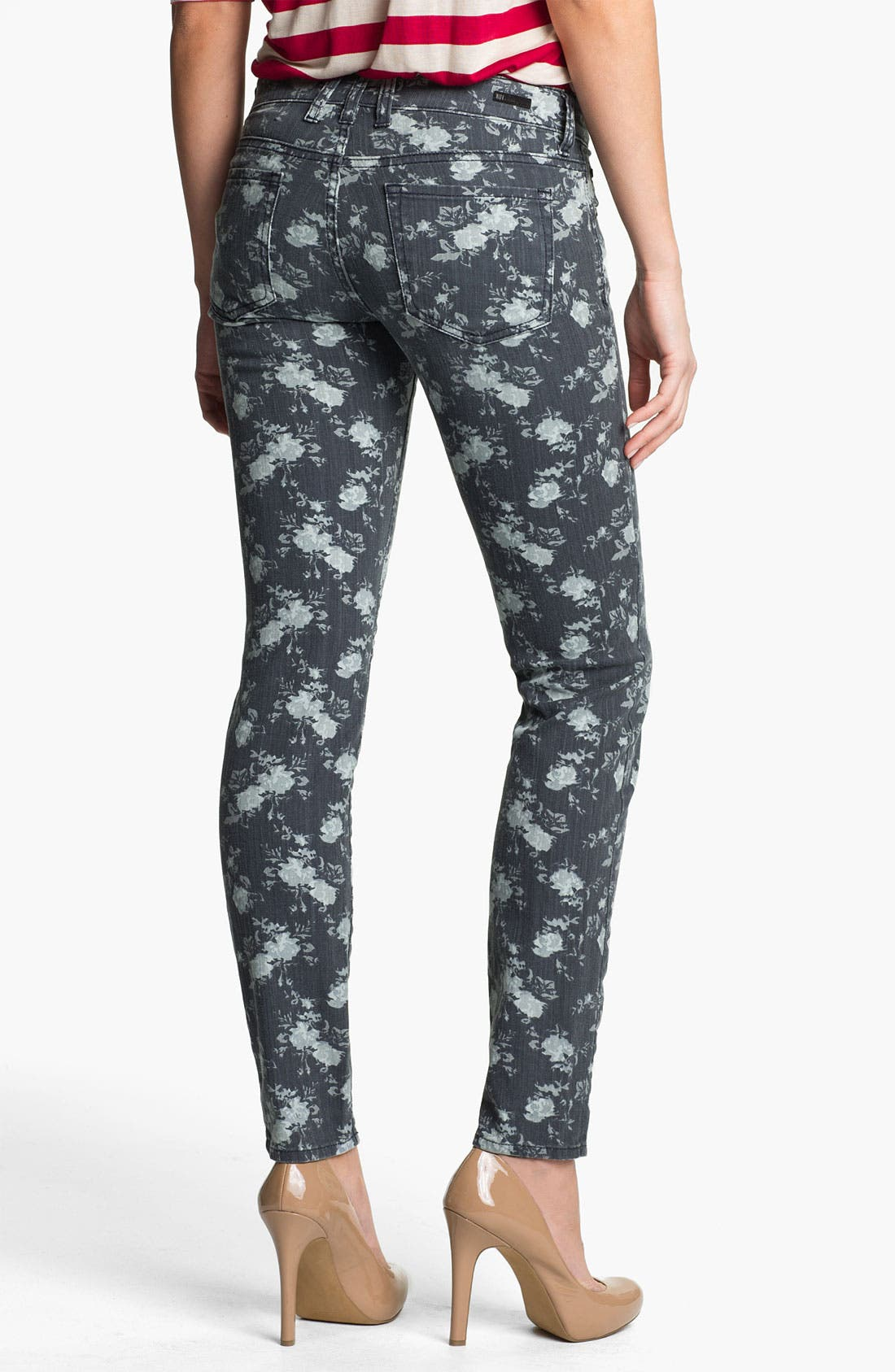 Alternate Image 2  - KUT from the Kloth 'Diana' Floral Skinny Jeans