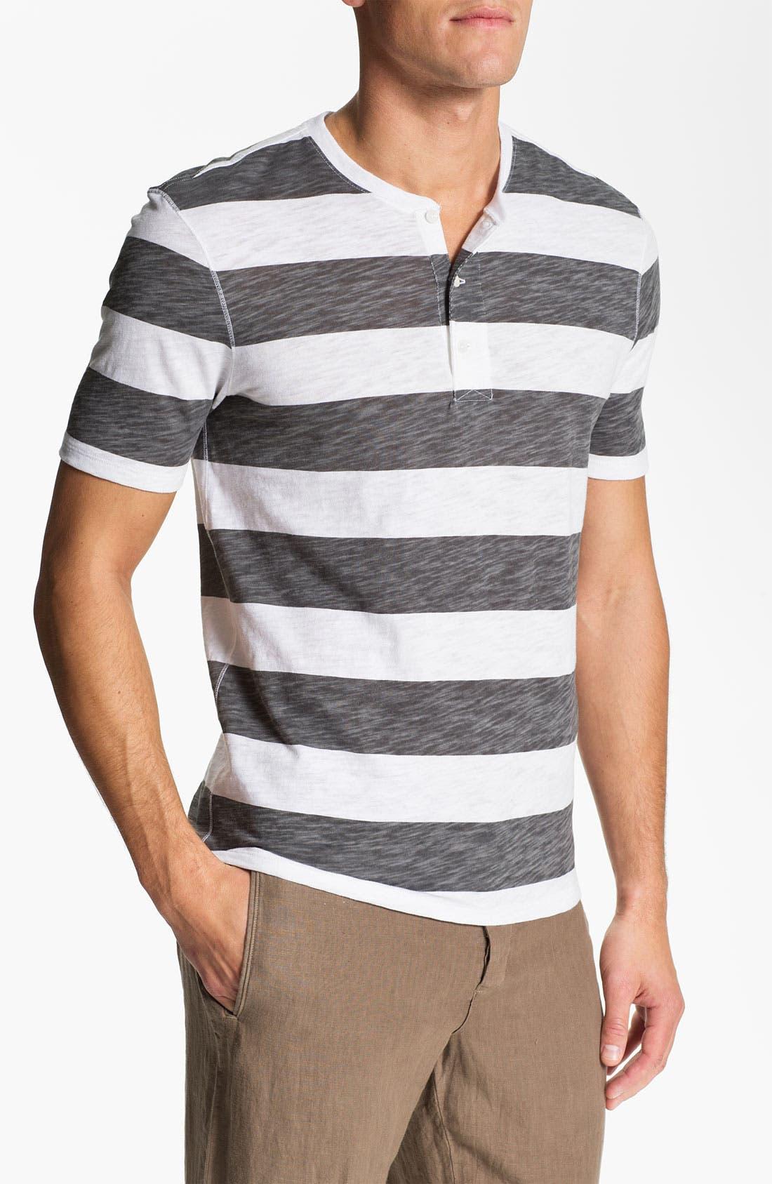 Main Image - Vince Slub Stripe Henley T-Shirt
