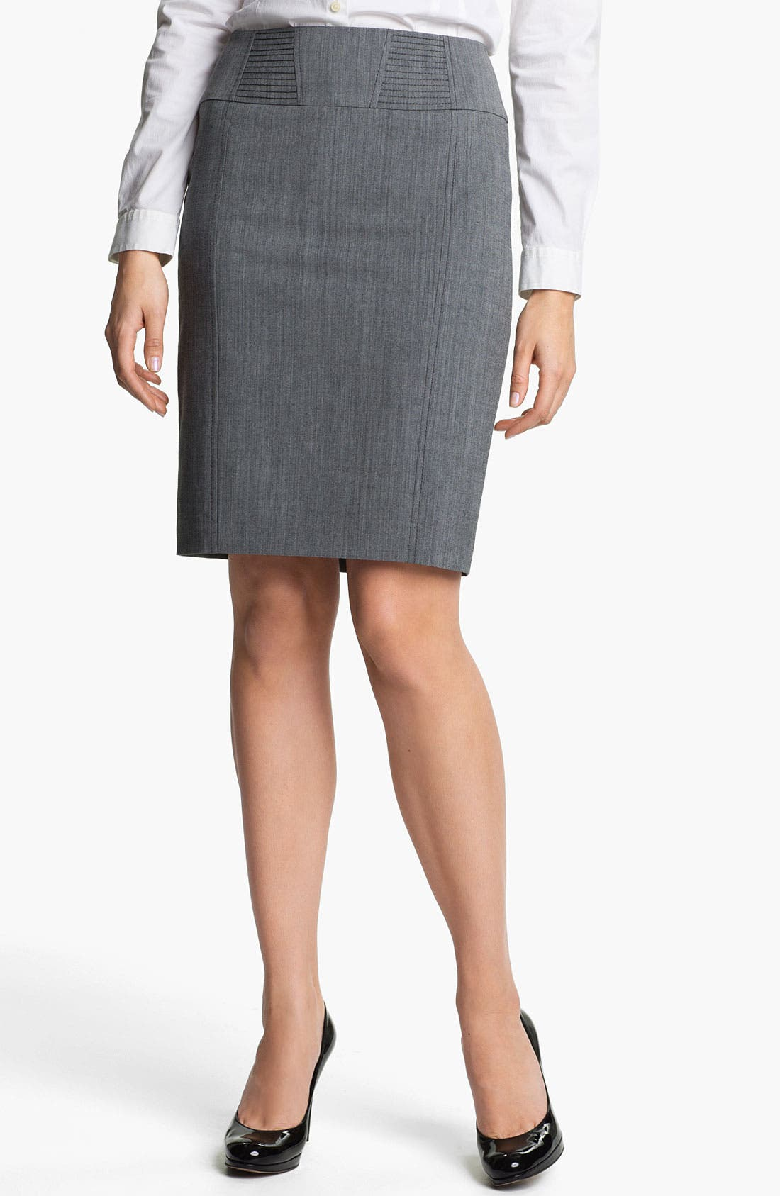 Main Image - Halogen® Cross Dye Pencil Skirt
