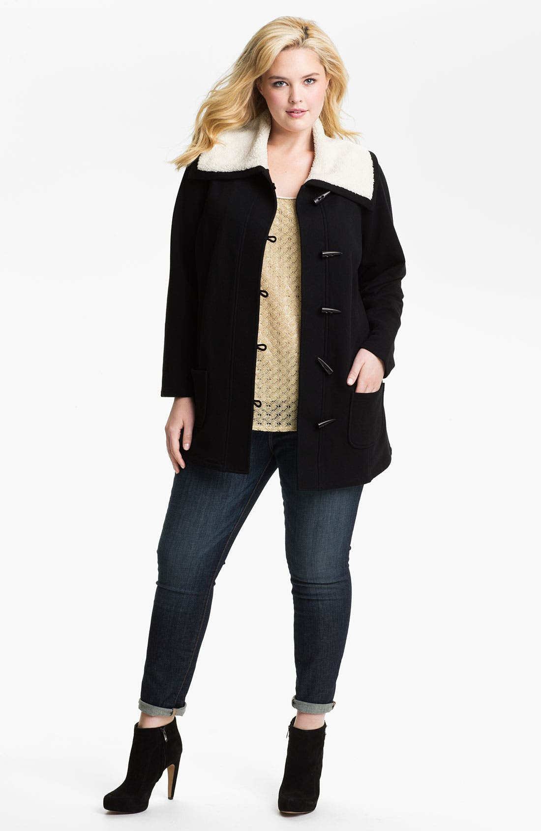 Alternate Image 3  - Sejour Fleece Collar French Terry Jacket (Plus)