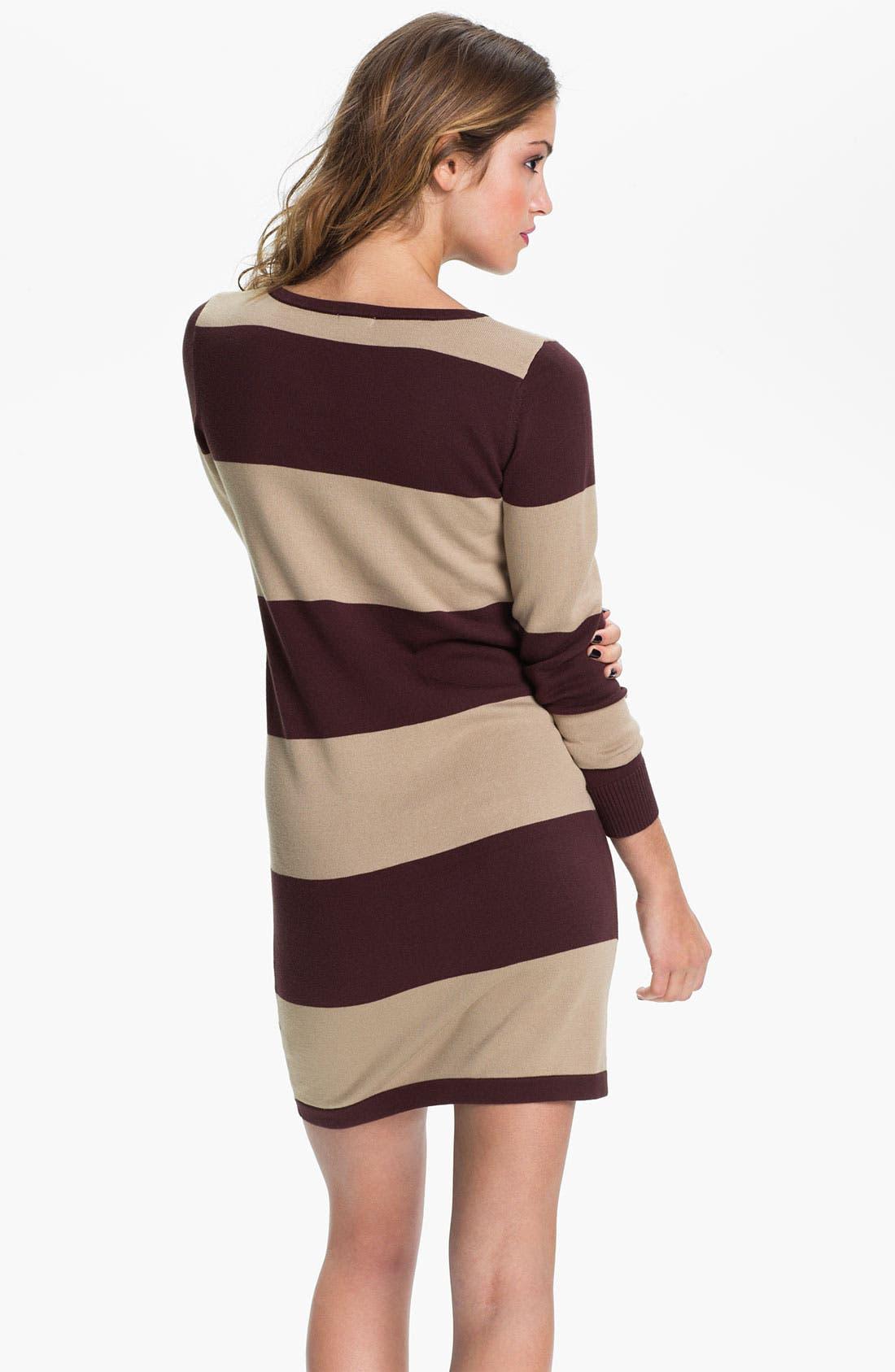Alternate Image 2  - BP. 'Rugby Stripe' Sweater Dress (Juniors)