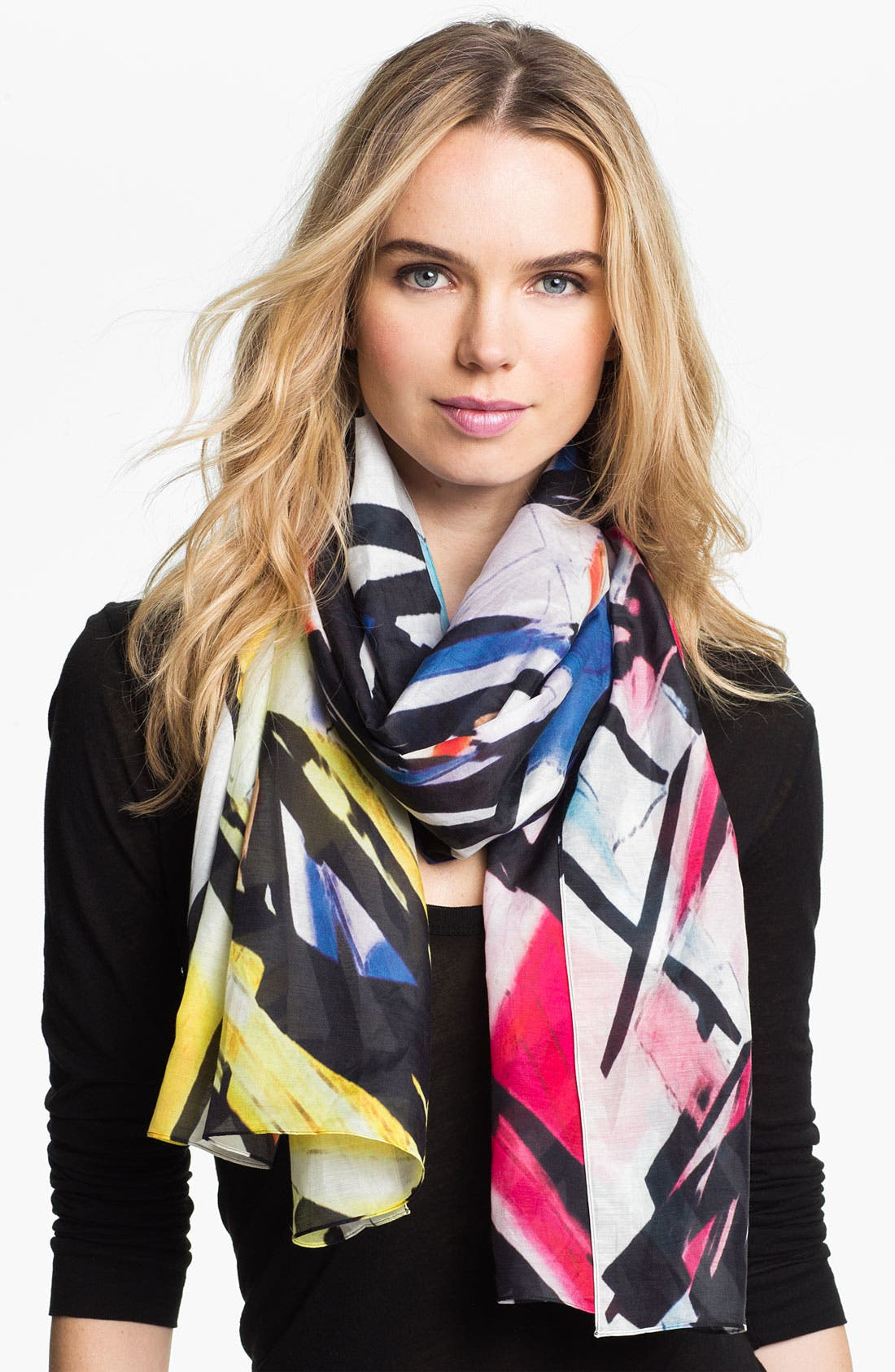 Alternate Image 1 Selected - Front Row Society 'Pretty Lights' Cotton & Silk Scarf
