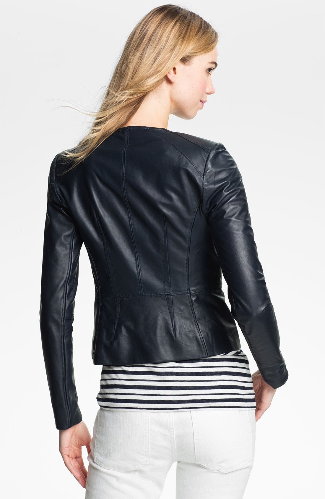 Alternate Image 2  - Tory Burch 'Abby' Leather Jacket