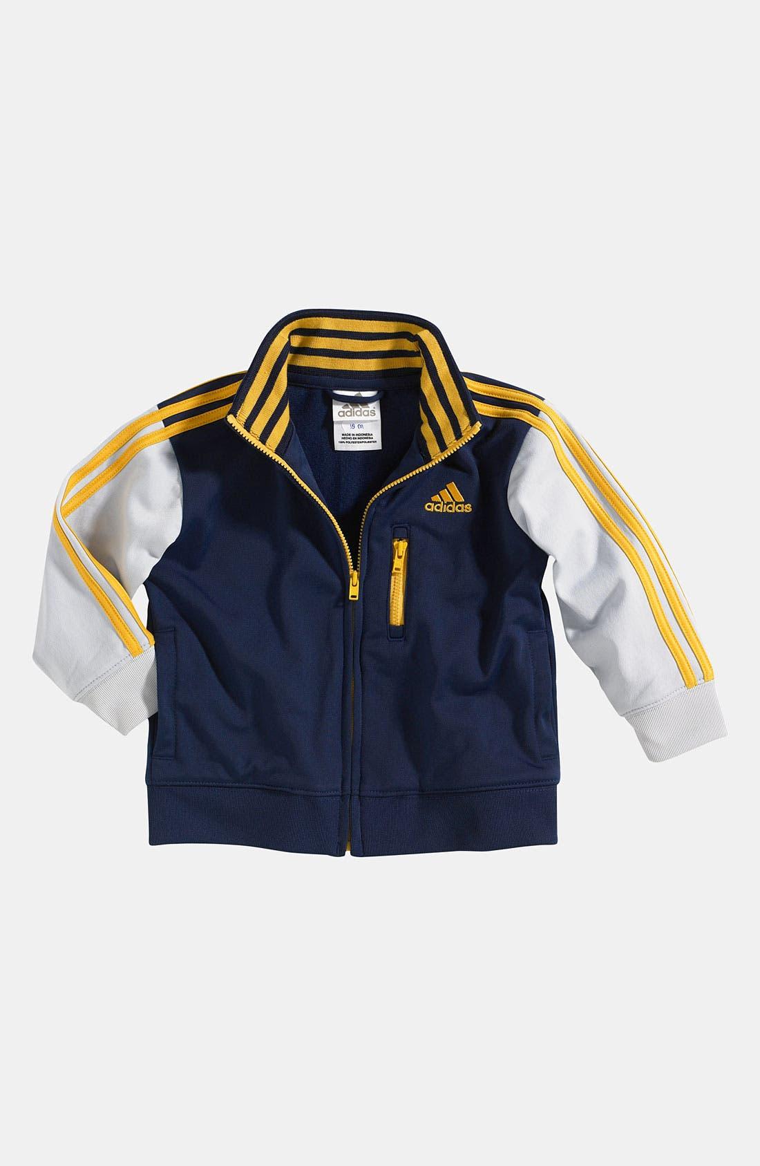 Main Image - adidas 'Varsity' Jacket (Infant)